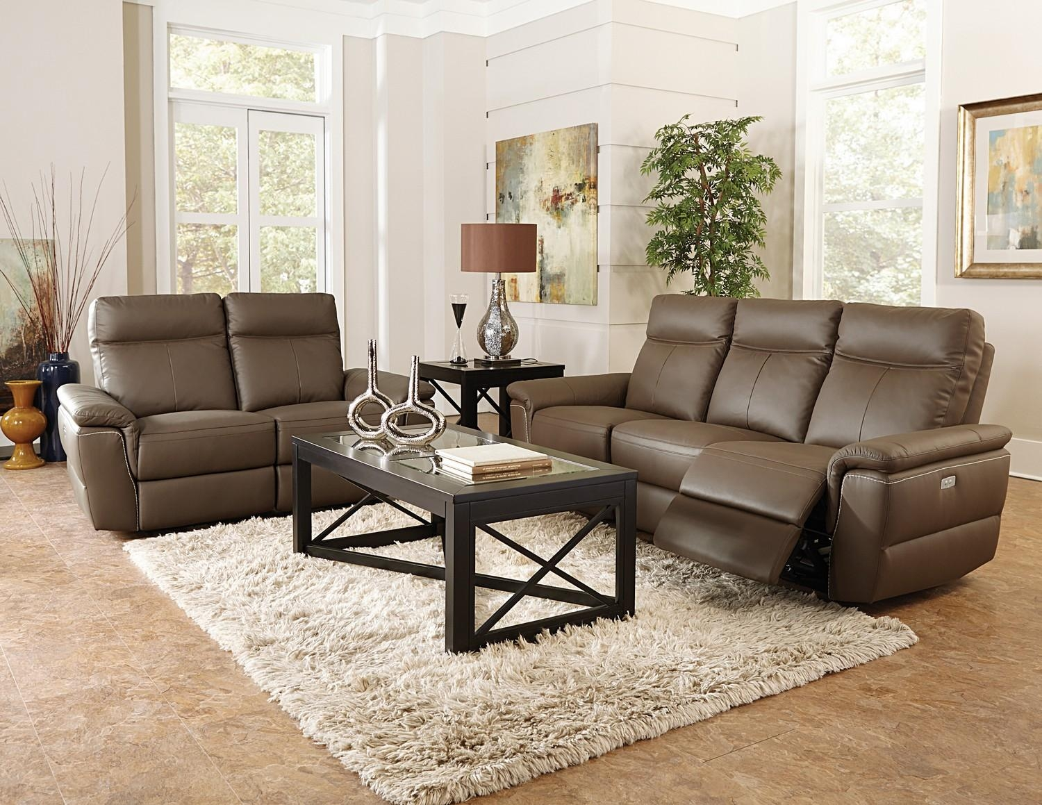 Homelegance Olympia Power Reclining Sofa Set – Top Grain Leather Within Homelegance Sofas (Image 14 of 20)