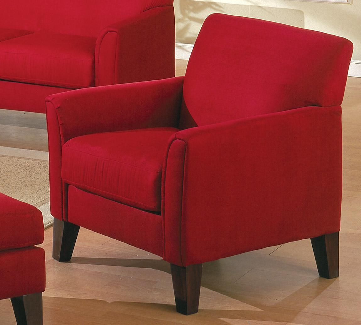Homelegance Petite Sofa Collection Red U9913Rd For Red Sofa Chairs (Image 10 of 20)