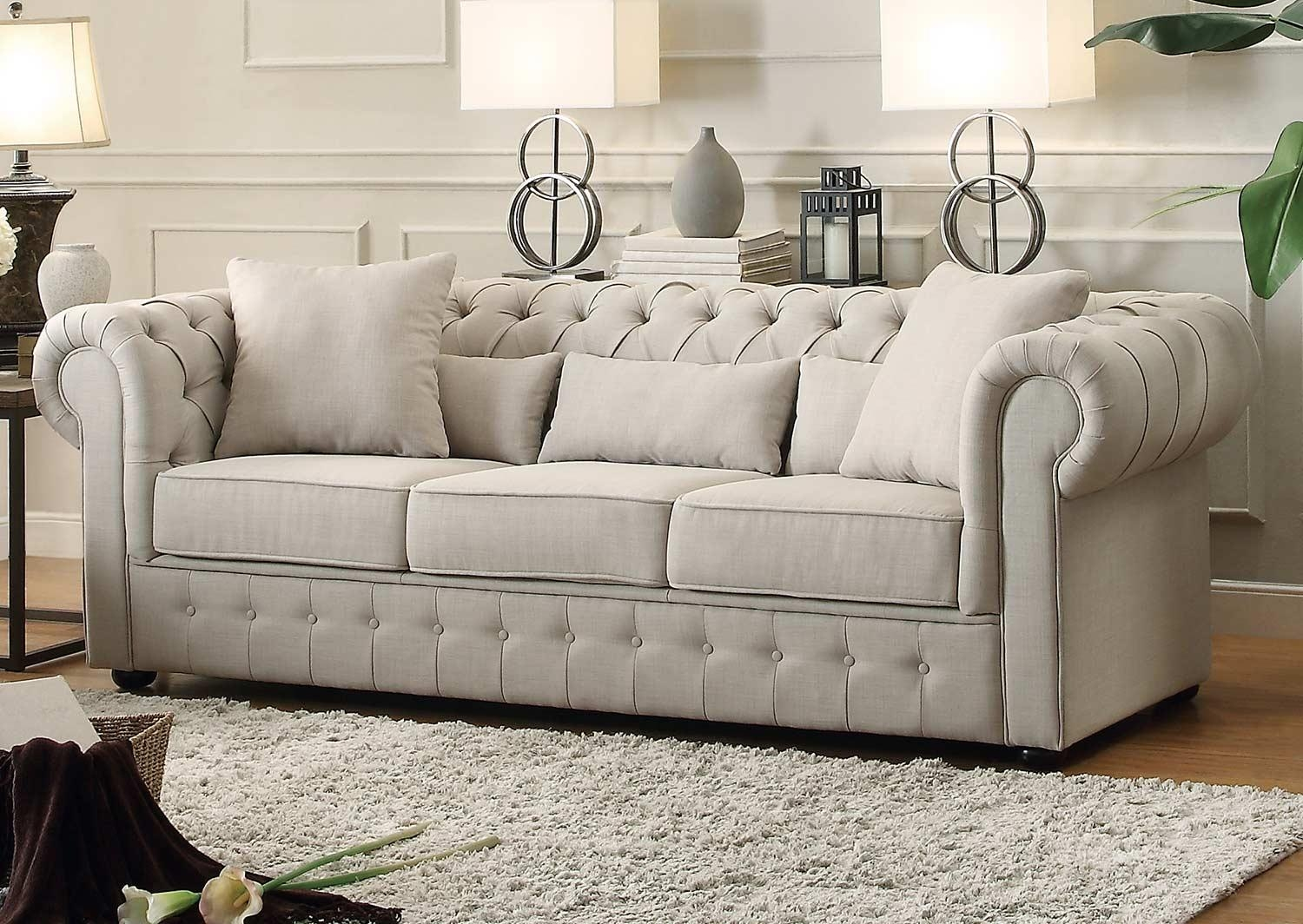 Homelegance Savonburg Sofa – Neutral 8427 3 With Homelegance Sofas (View 13 of 20)