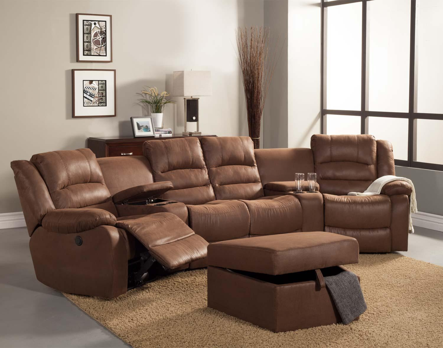 Homelegance Tucker Sectional Sofa Set – Brown – Bomber Jacket With Bomber Leather Sofas (Image 9 of 20)