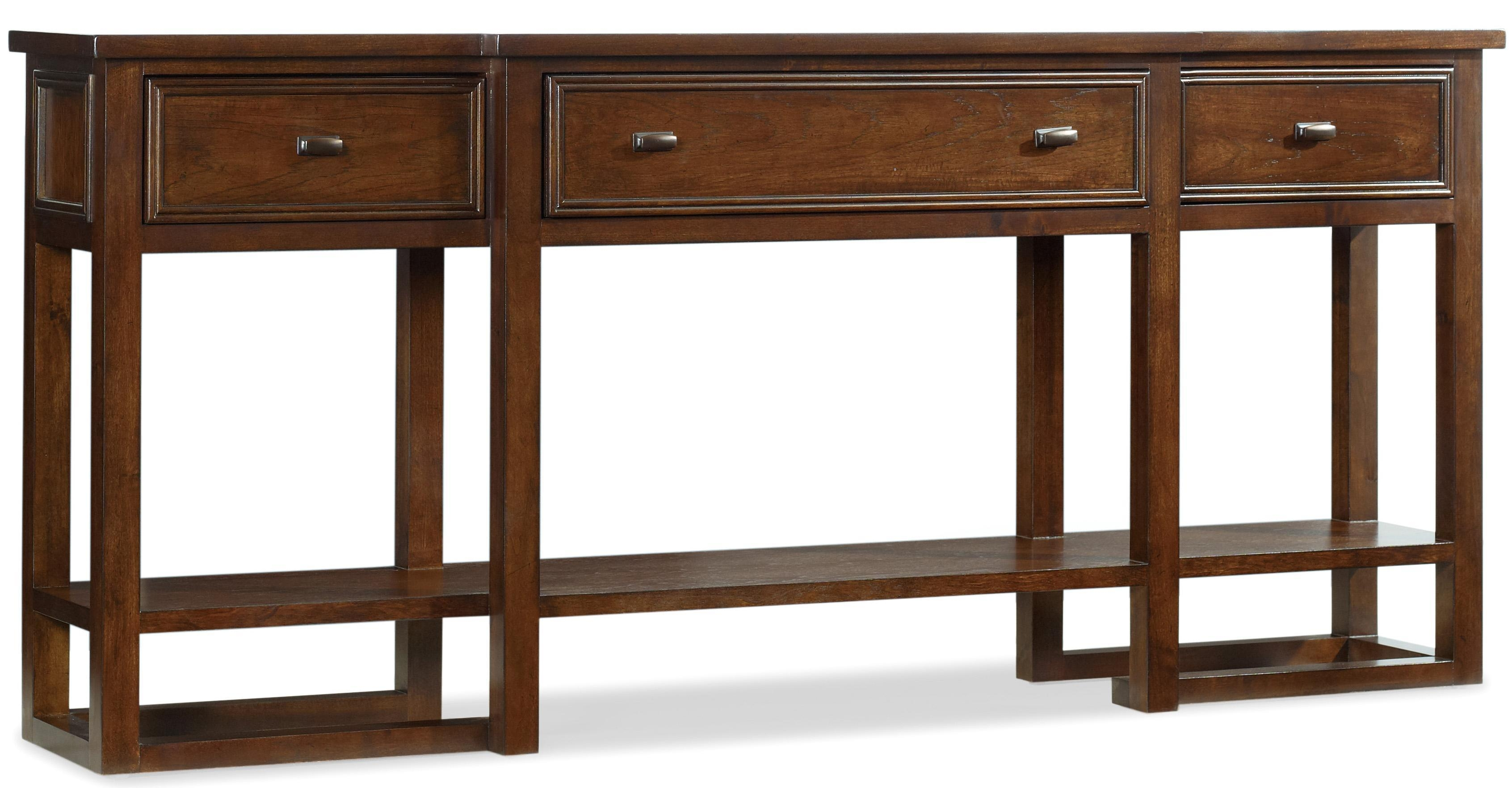 Hooker Furniture Lorimer 72 Inch Sofa Table With Breakfront, 3 With Sofa Table Drawers (Image 6 of 20)