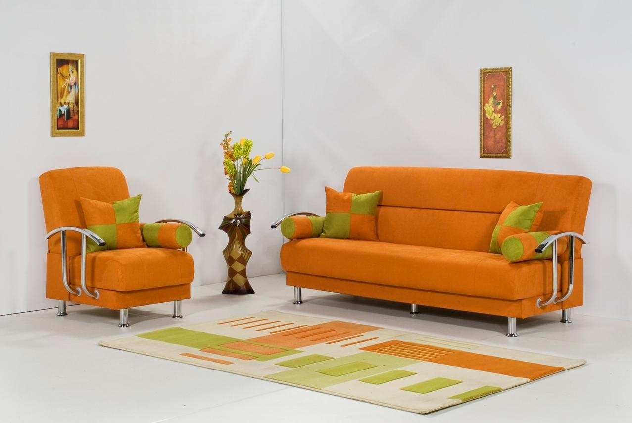 How To Adorn Your Interior With Orange Sofa | Homesfeed Inside Orange Sofa Chairs (View 2 of 20)