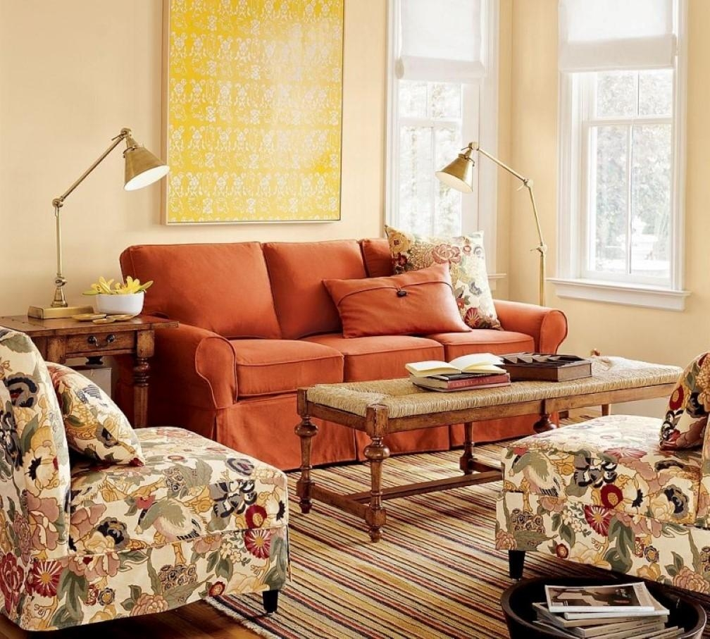 How To Adorn Your Interior With Orange Sofa | Homesfeed With Orange Sofa Chairs (View 10 of 20)