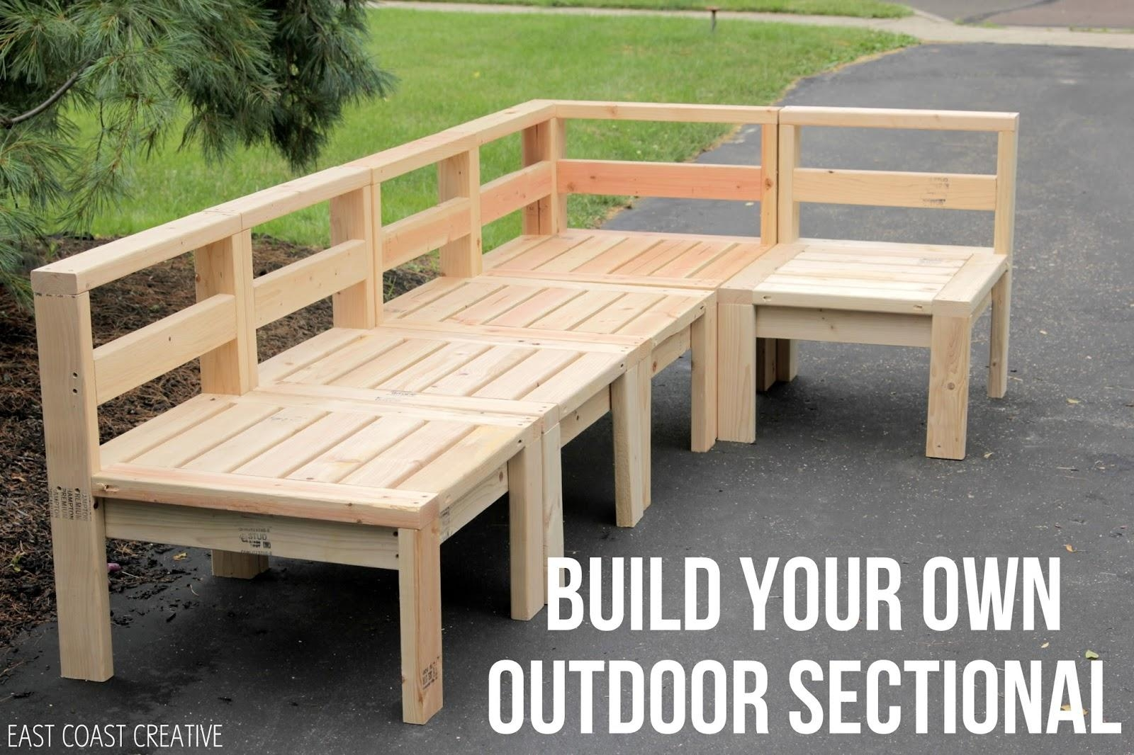 How To Build An Outdoor Sectional {Knock It Off} – East Coast Regarding Building A Sectional Sofa (View 9 of 15)