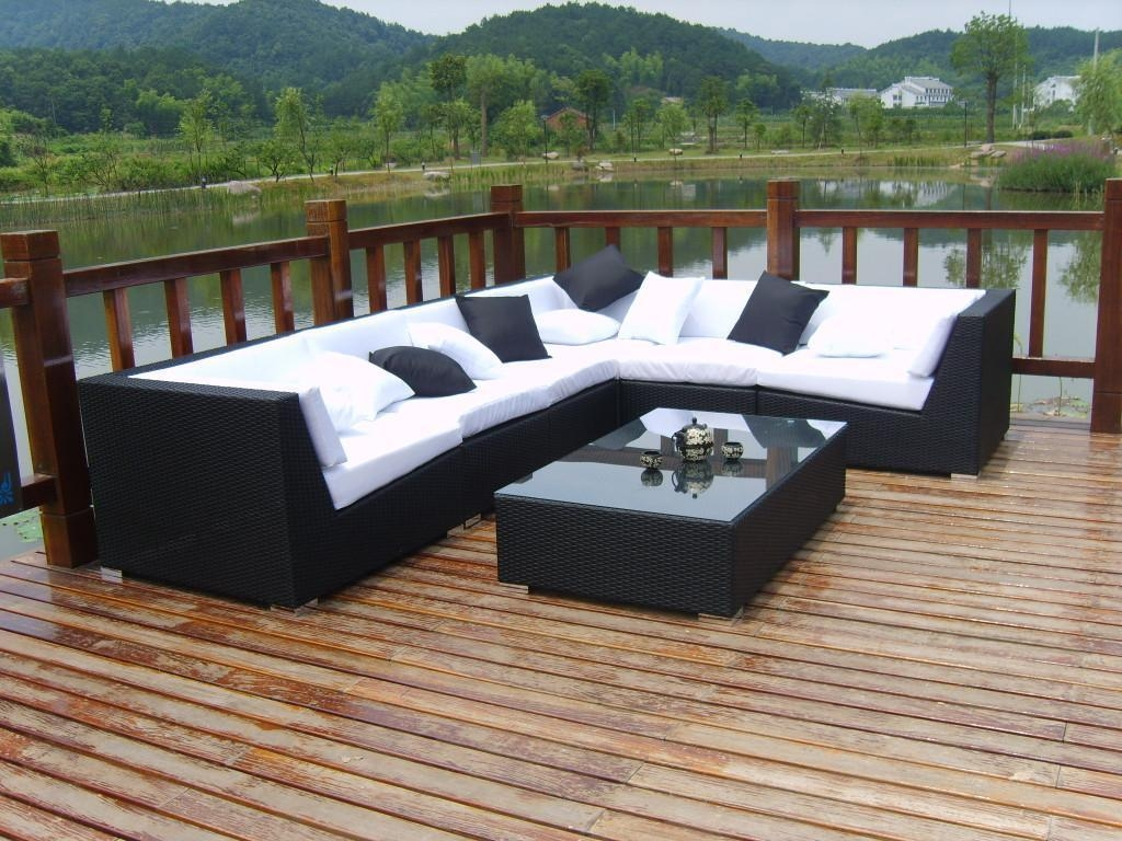 How To Decorate Outdoor Wicker Sofa | Babytimeexpo Furniture Pertaining To Black Wicker Sofas (View 3 of 20)