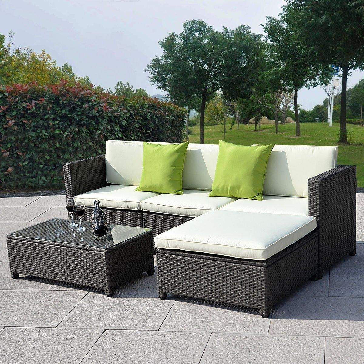 How To Decorate Outdoor Wicker Sofa | Babytimeexpo Furniture Within Black Wicker Sofas (Image 13 of 20)
