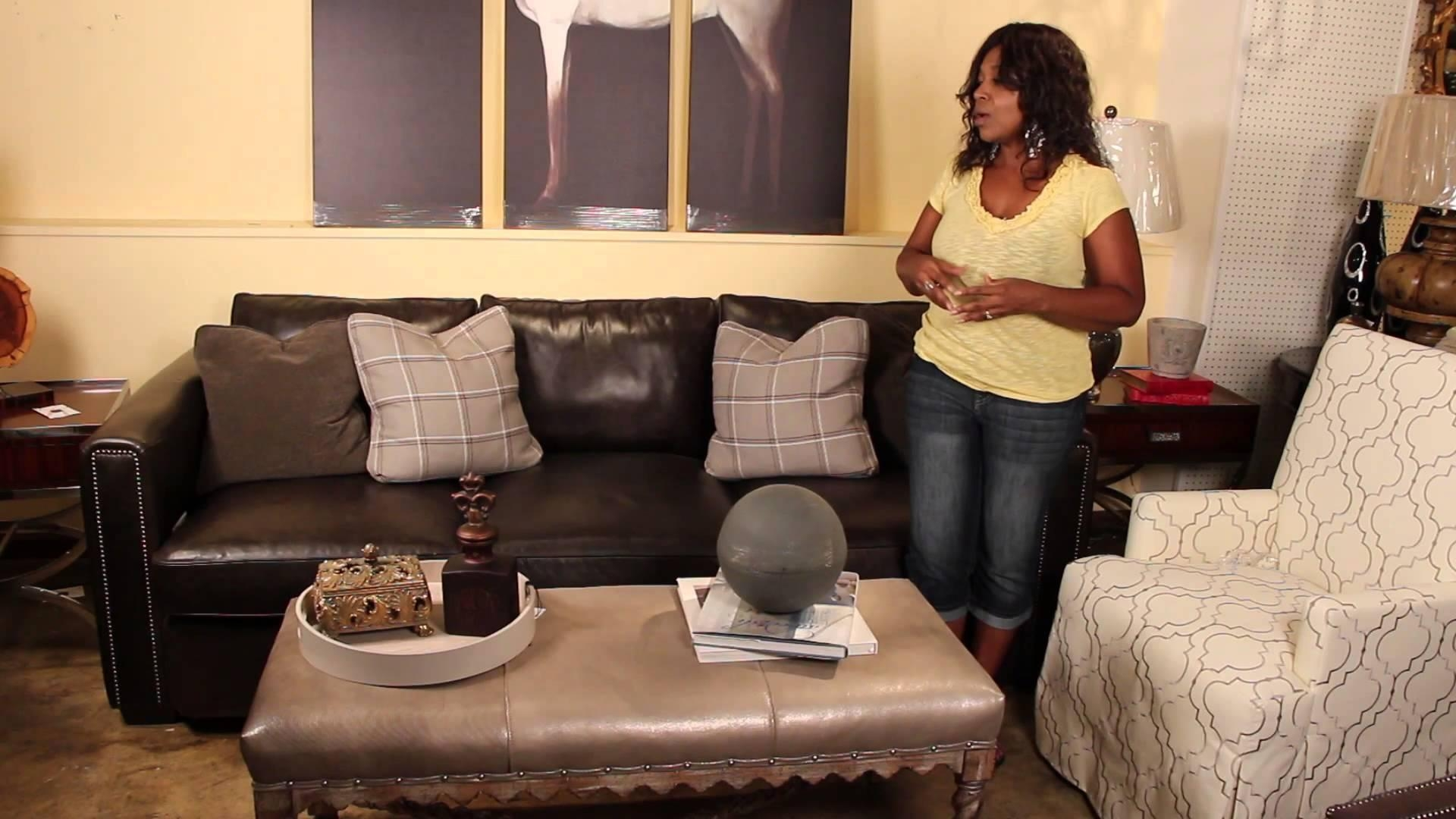 How To Decorate With Leather Sofas & Fabric Chairs : Perfect Intended For Leather And Cloth Sofa (Image 6 of 20)