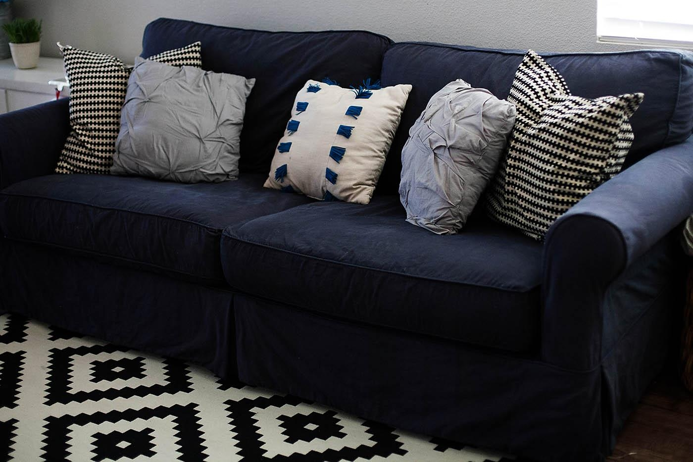 How To Dye A Sofa Slipcover With Regard To Blue Slipcovers (Image 10 of 20)