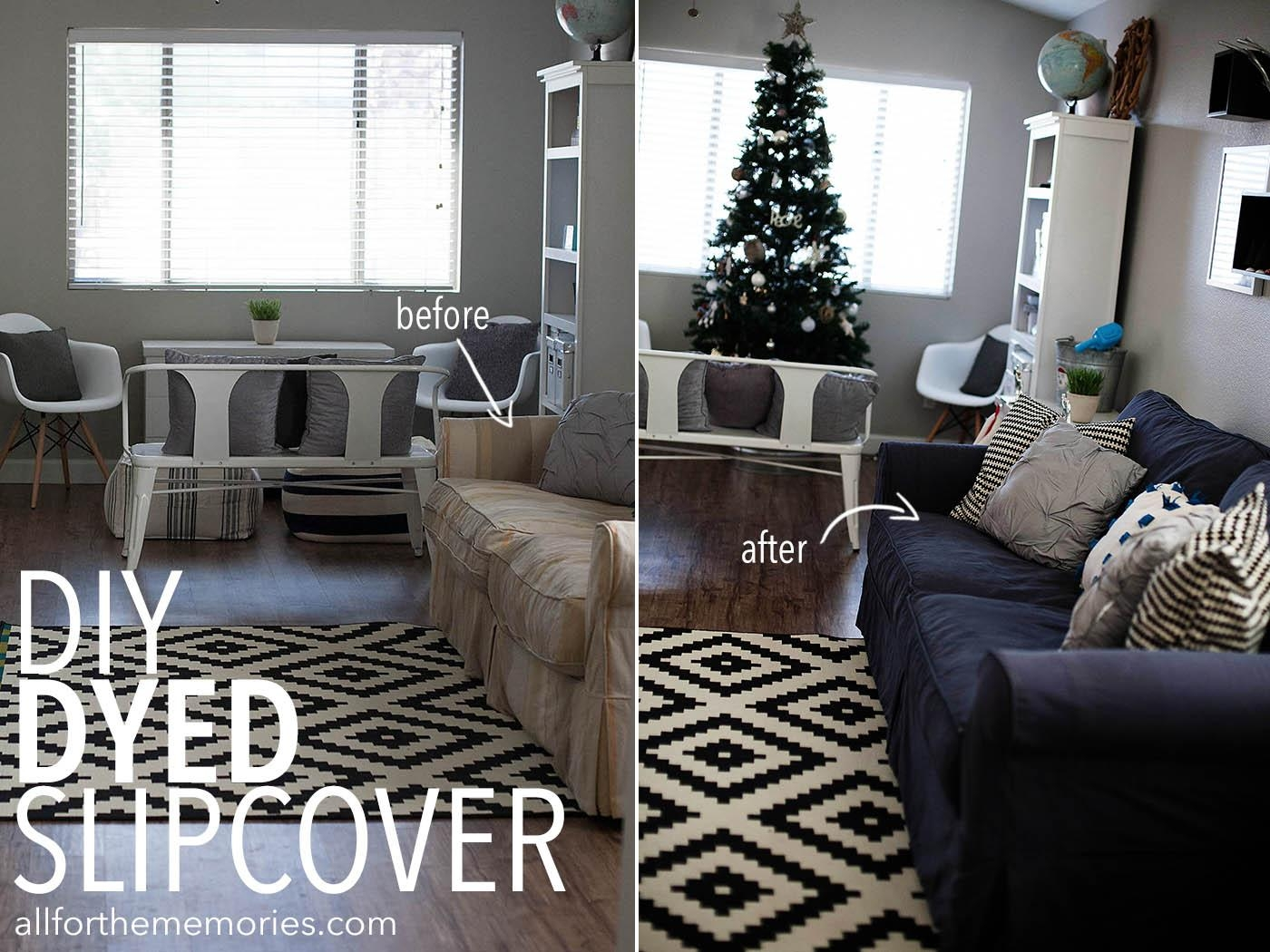 How To Dye A Sofa Slipcover Within Black Slipcovers For Sofas (View 16 of 20)