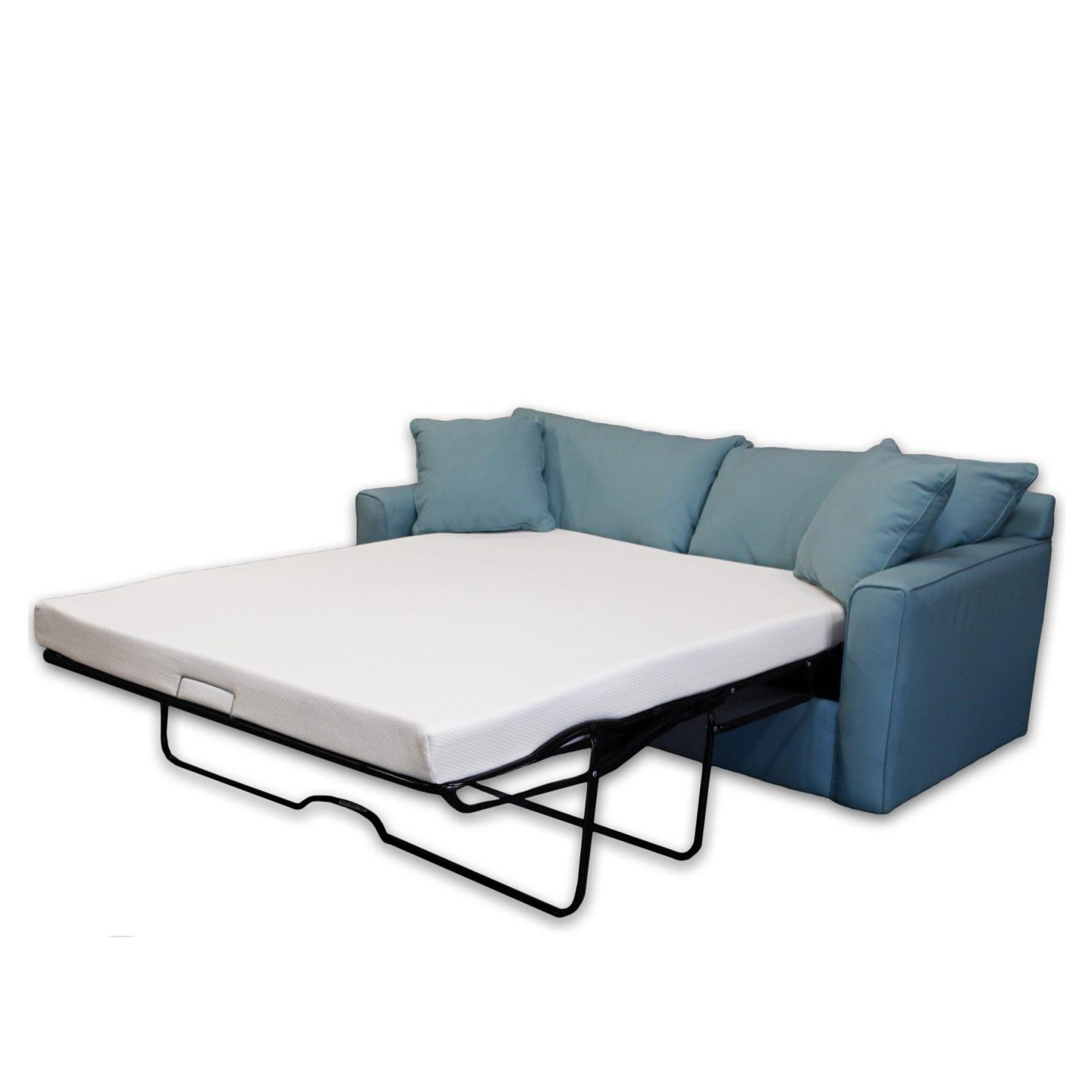 How To Make A Pull Out Sofa Bed More Comfortable – Overstock With Regard To Sofa Sleeper Sheets (Image 3 of 20)