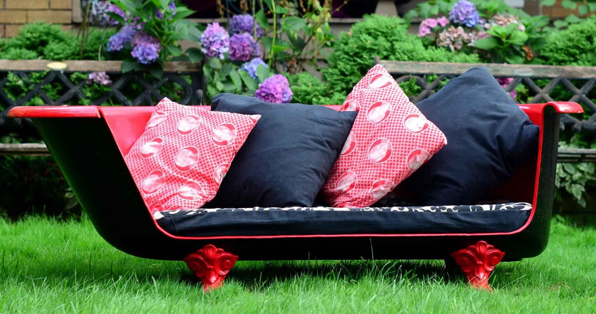How To Make An Upcycled Vintage Cast Iron Claw Foot Bathtub Sofa Pertaining To Clawfoot Tub Sofas (View 8 of 20)