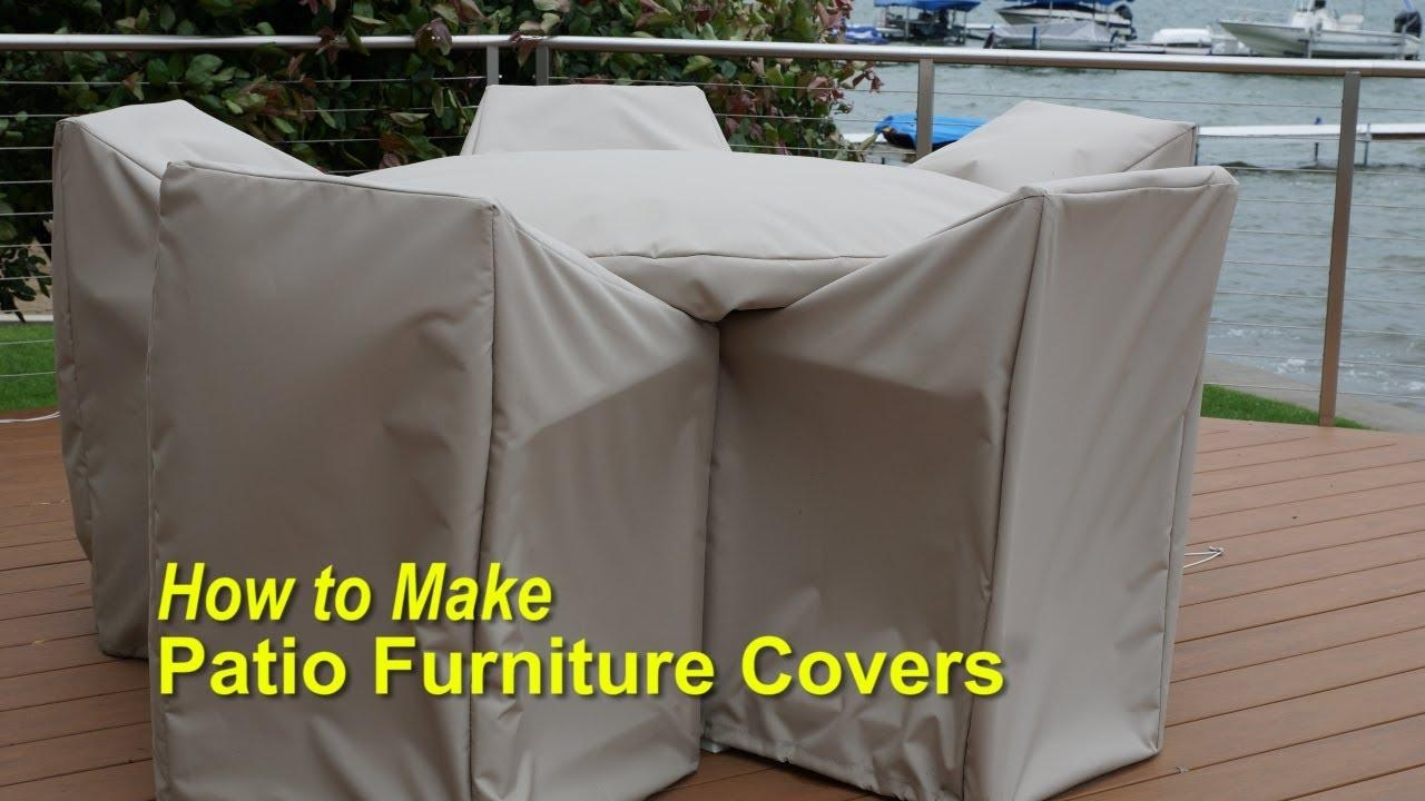 How To Make Patio Furniture Covers – Youtube Intended For Garden Sofa Covers (Image 11 of 22)