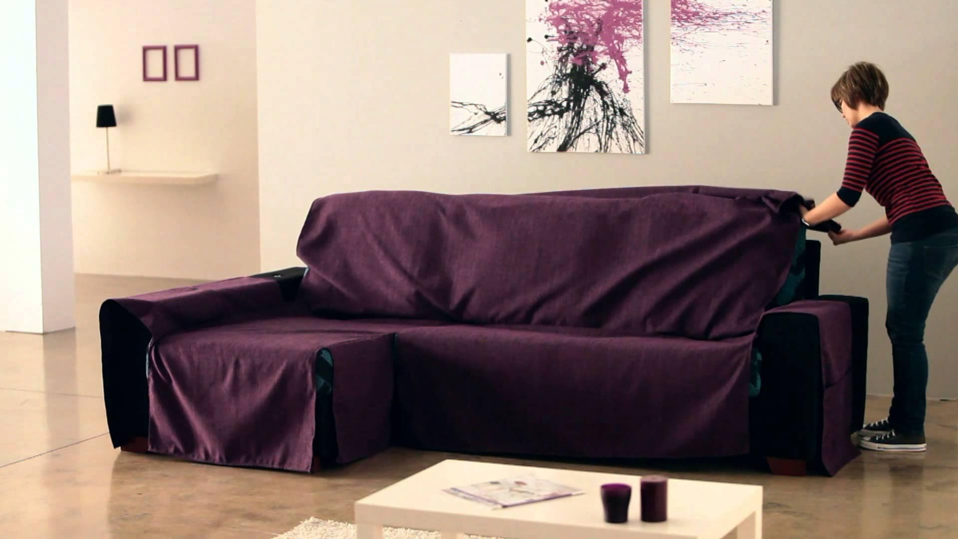 How To Put An Universal Chaise Sofa Covers – Youtube Inside Chaise Sofa Covers (View 3 of 20)
