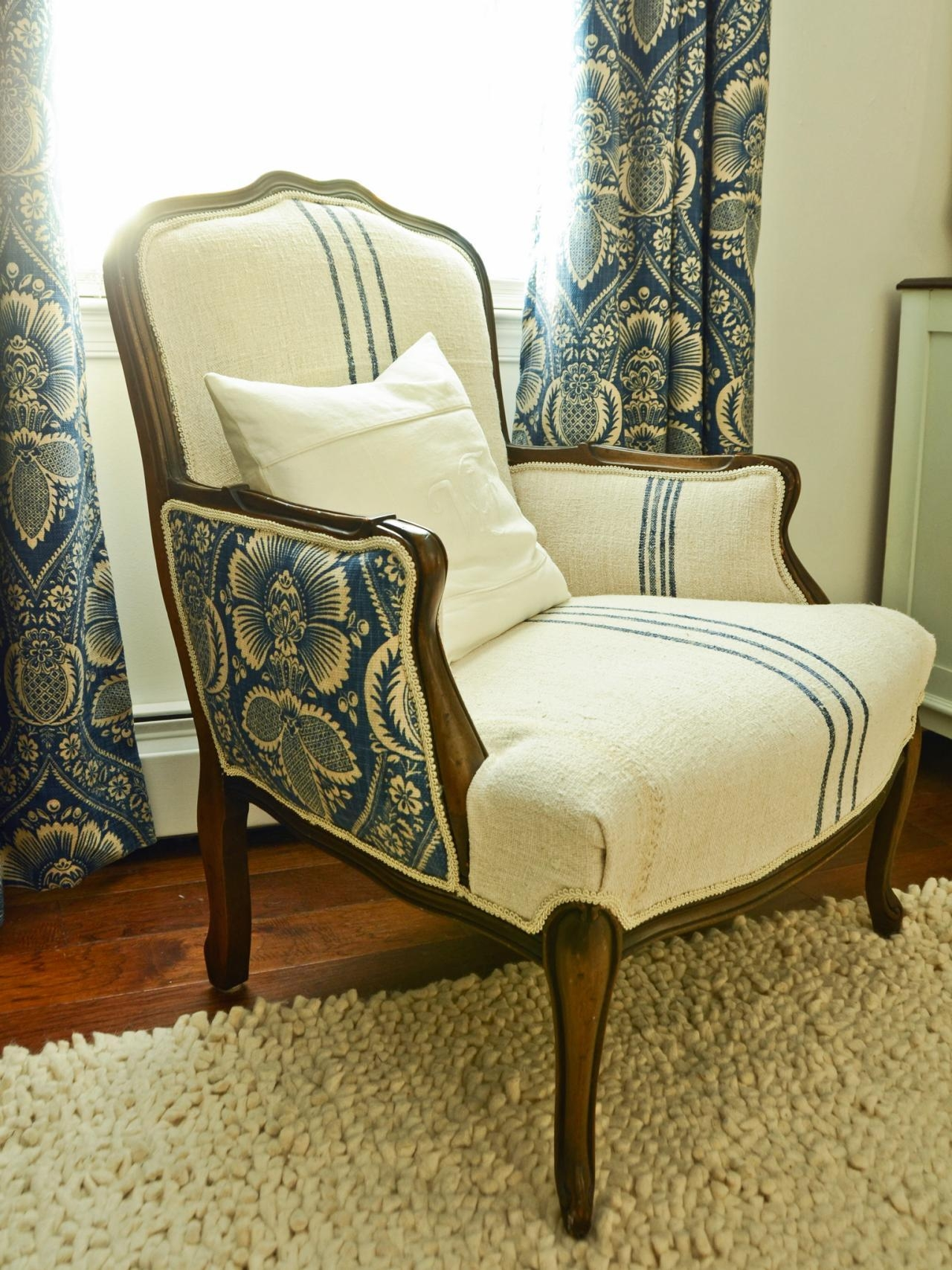 How To Reupholster An Arm Chair | Hgtv Within Reupholster Sofas Cushions (View 10 of 20)
