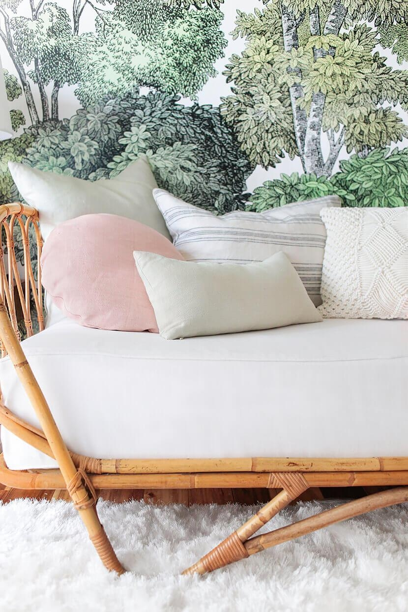 How To Style A Twin Bed Like A Sofa Or Daybed – Emily Henderson Throughout Emily Sofas (View 5 of 20)