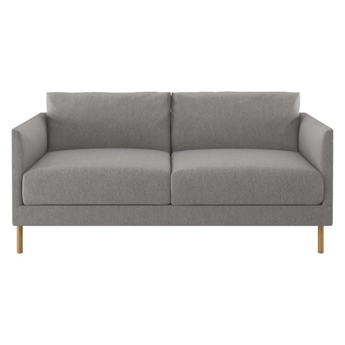Hyde Grey Fabric 2 Seater Sofa, Wooden Legs | Buy Now At Habitat Uk Intended For Two Seater Sofas (View 8 of 20)