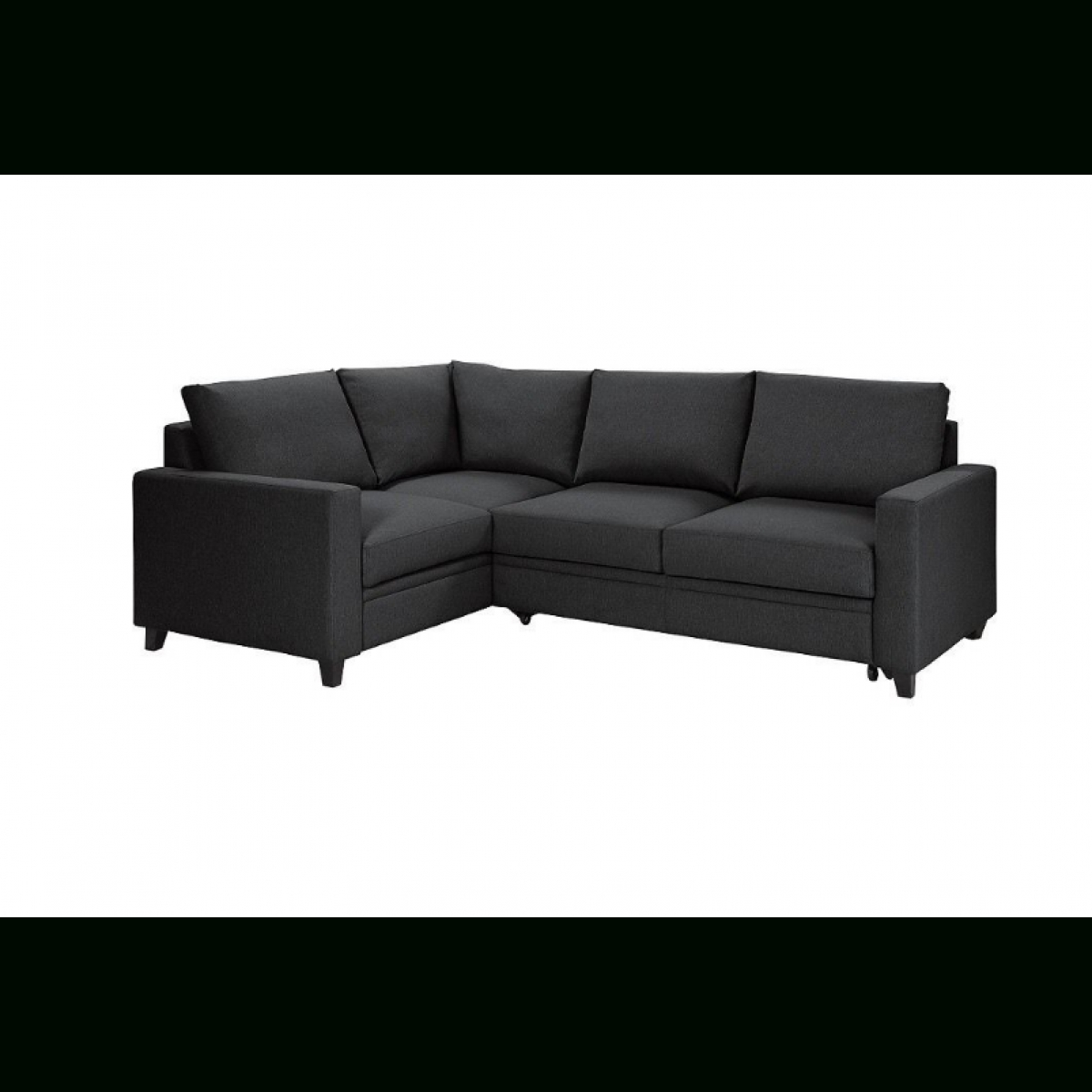 Hygena Seattle Fabric Left Hand Corner Sofa Bed – Charcoal Inside Corner Sofa Beds (Image 14 of 20)