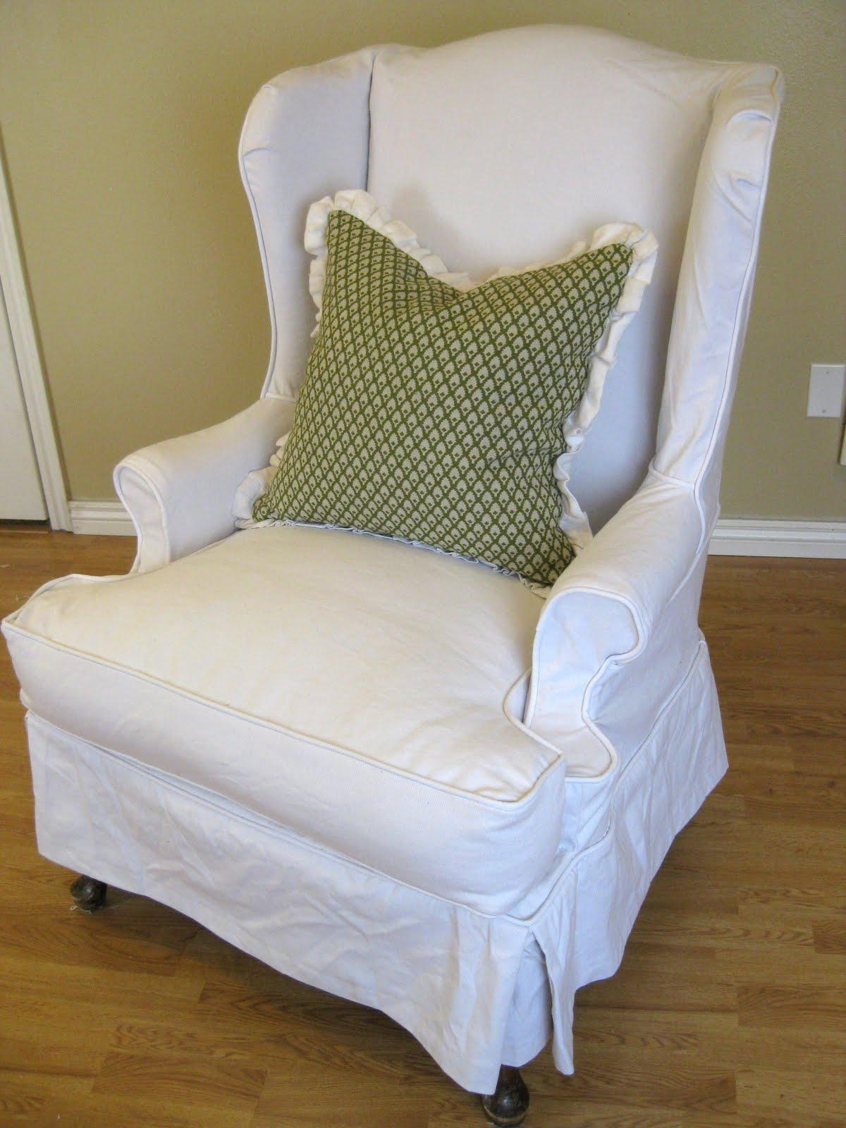 Ideas: Chic Pottery Barn Slipcovers For Better Sofa And Chair Look Pertaining To Pottery Barn Chair Slipcovers (Image 7 of 20)