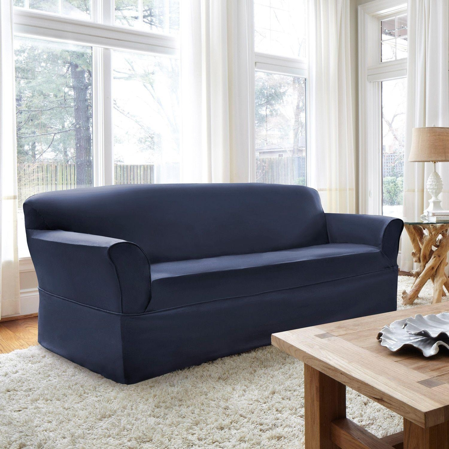 Ideas: Chic Pottery Barn Slipcovers For Better Sofa And Chair Look With Mitchell Gold Sofa Slipcovers (View 5 of 20)