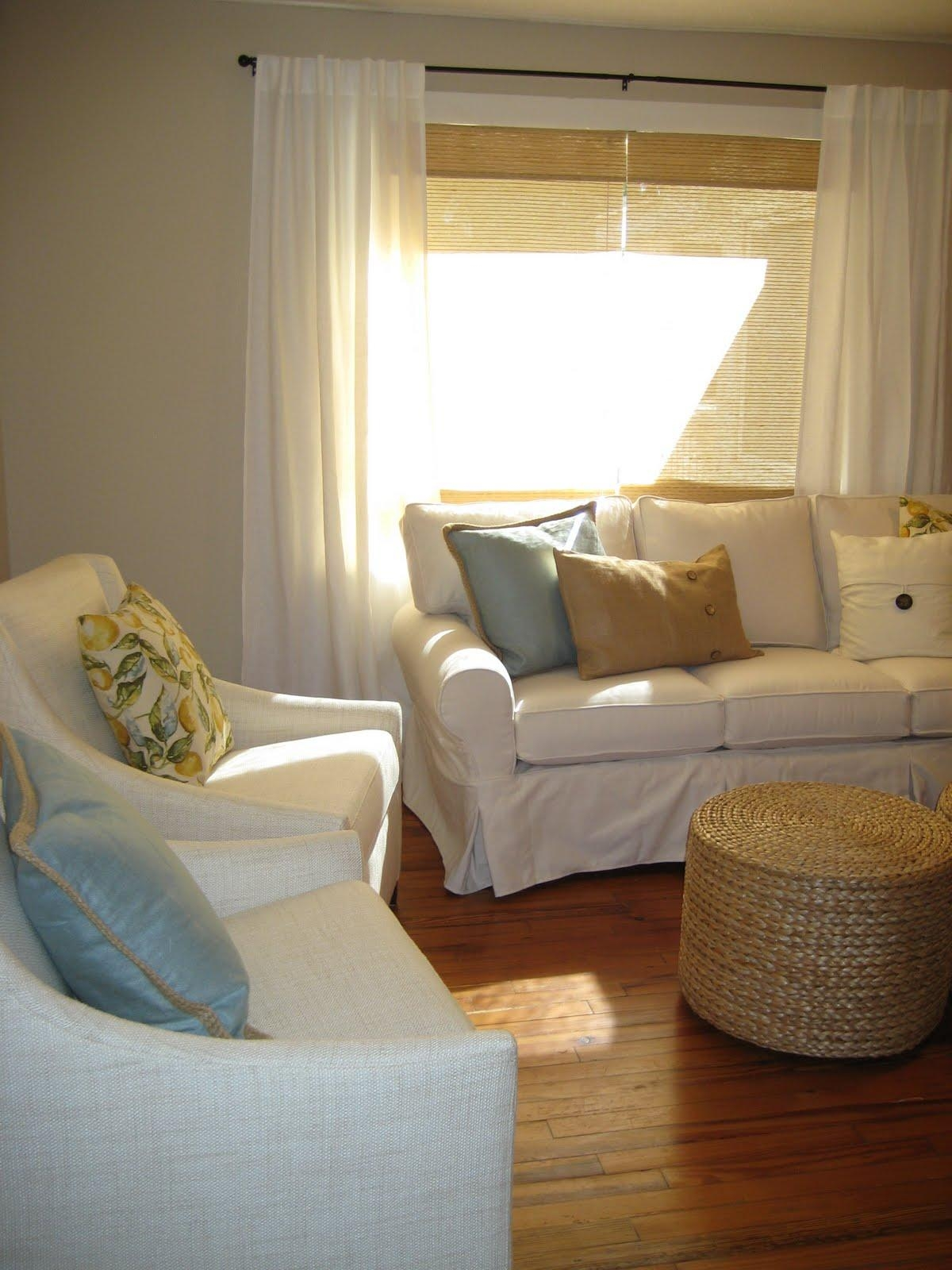 Ideas: Chic Pottery Barn Slipcovers For Better Sofa And Chair Look Within Pottery Barn Chair Slipcovers (Image 9 of 20)