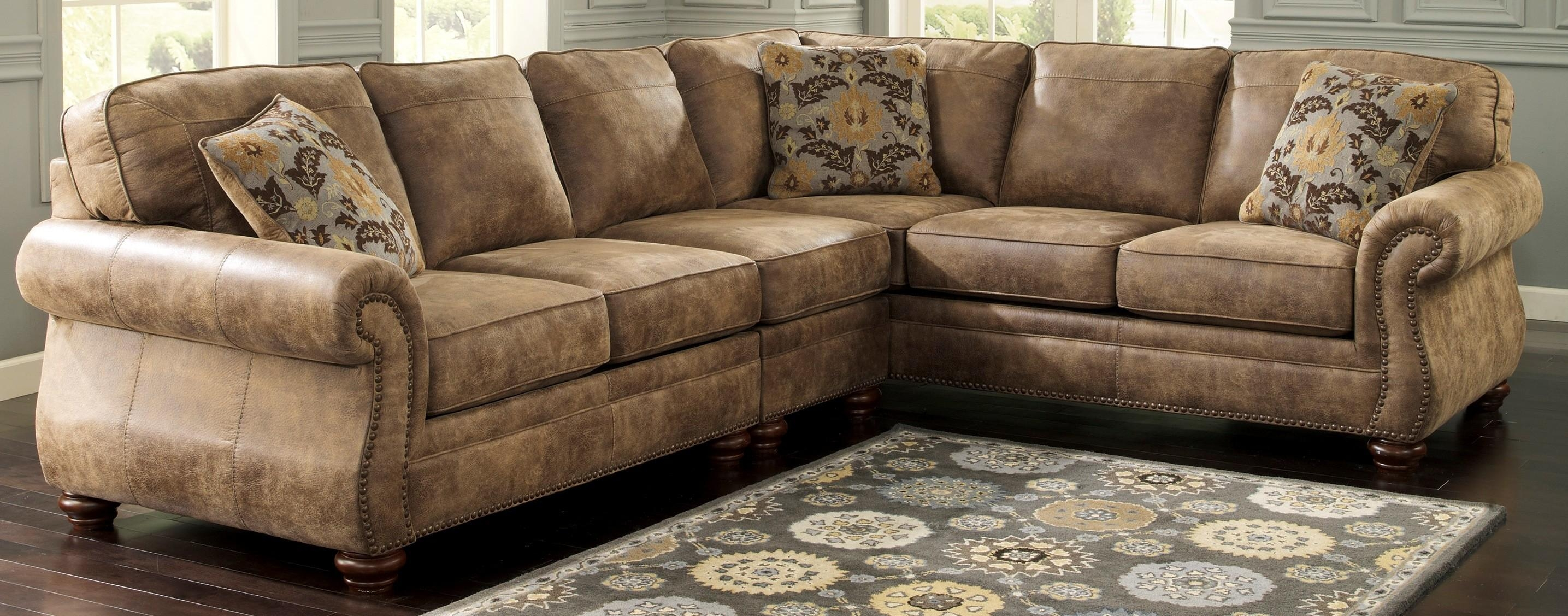 Ideas: Faux Leather Sectional Sofa Ashley And Ashley Sectional Within Ashley Faux Leather Sectional Sofas (Image 11 of 20)