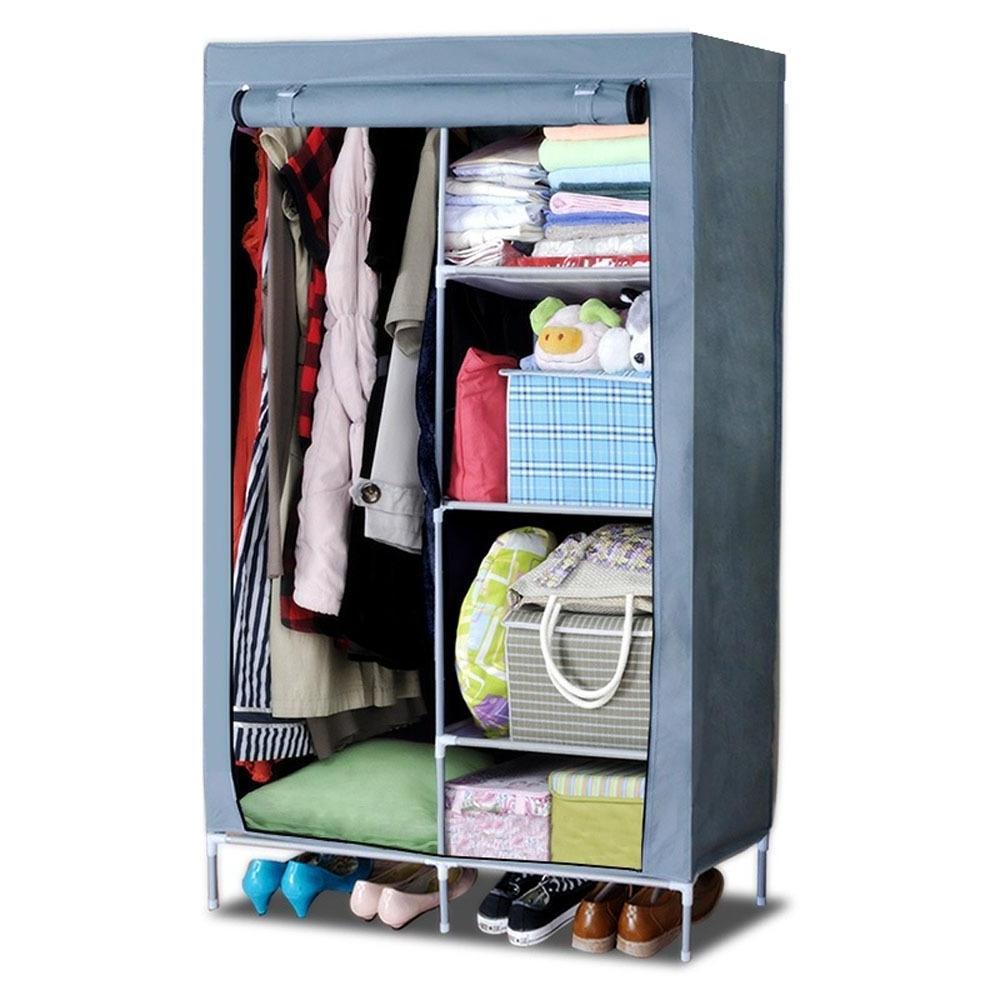 Ideas: Walmart Closet Storage | Portable Closet | Cloth Rack Regarding On The Go With A Portable Wardrobe Closet (Image 8 of 27)