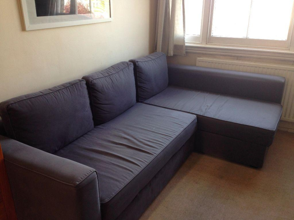 Ikea Manstad Corner Sofa Bed With Storage V2 Youtube Intended For For Manstad Sofa Bed (Image 7 of 20)