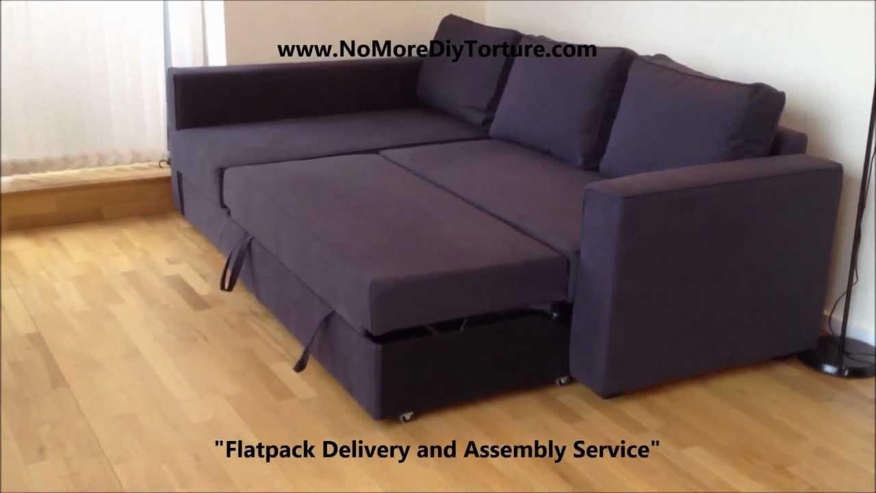 Ikea Manstad Corner Sofa Bed With Storage V2 – Youtube With Sofa Beds With Chaise Lounge (View 11 of 20)