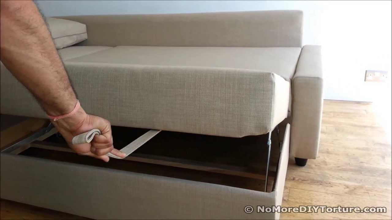 Ikea Sofa Bed Chaise Lounge Storage Design – Friheten – Youtube Regarding Storage Sofa Ikea (View 19 of 20)