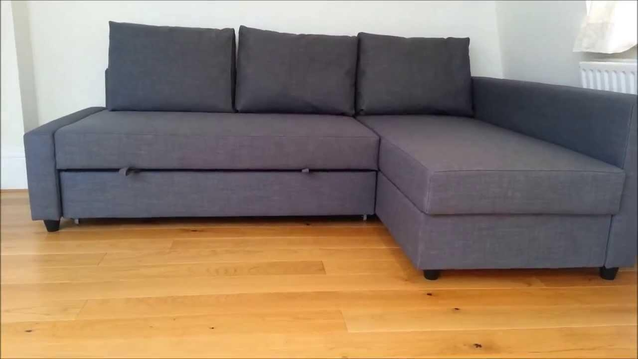 Ikea Sofa Bed – Youtube Intended For Manstad Sofa Bed With Storage From Ikea (View 8 of 20)
