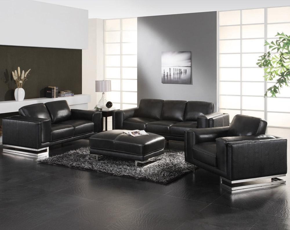 Images About Black Leather Couch On For Sofa Decorating Ideas Inside Contemporary Black Leather Sofas (View 13 of 20)