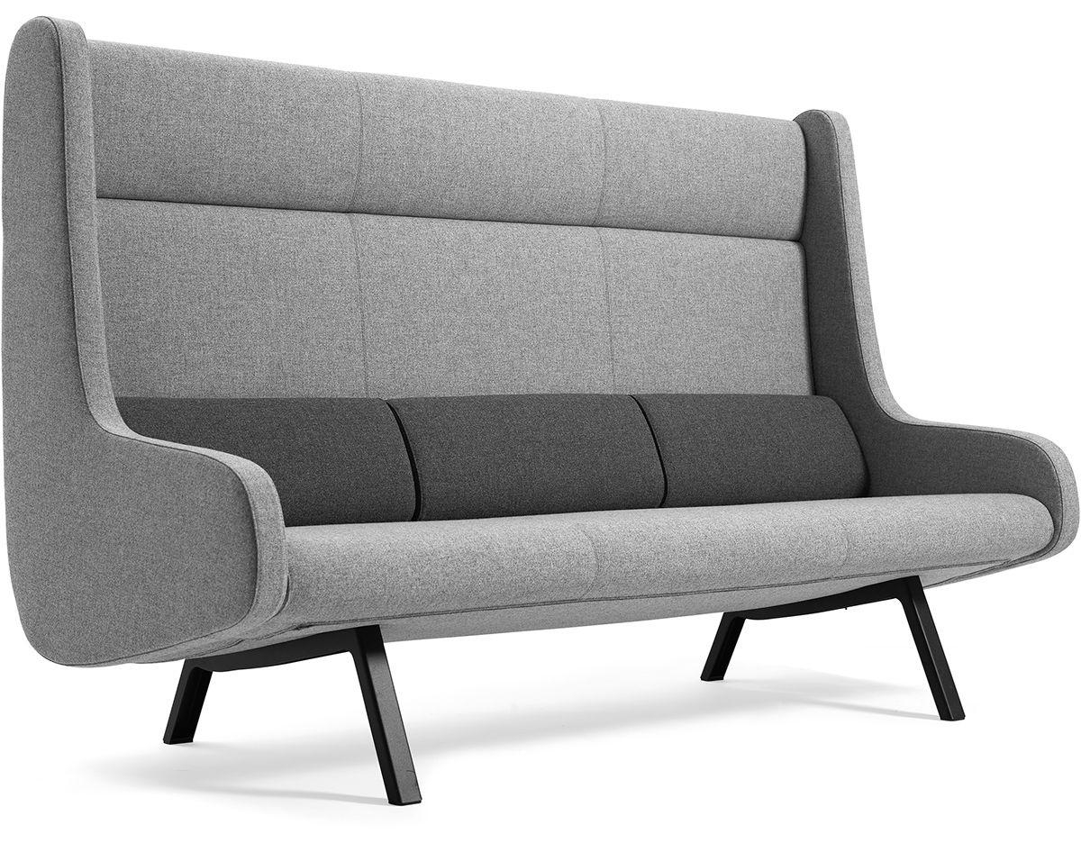 In Duplo Ej185 D 3 Extra High Back 3 Seat Sofa – Hivemodern Intended For High Back Sofas And Chairs (View 10 of 20)