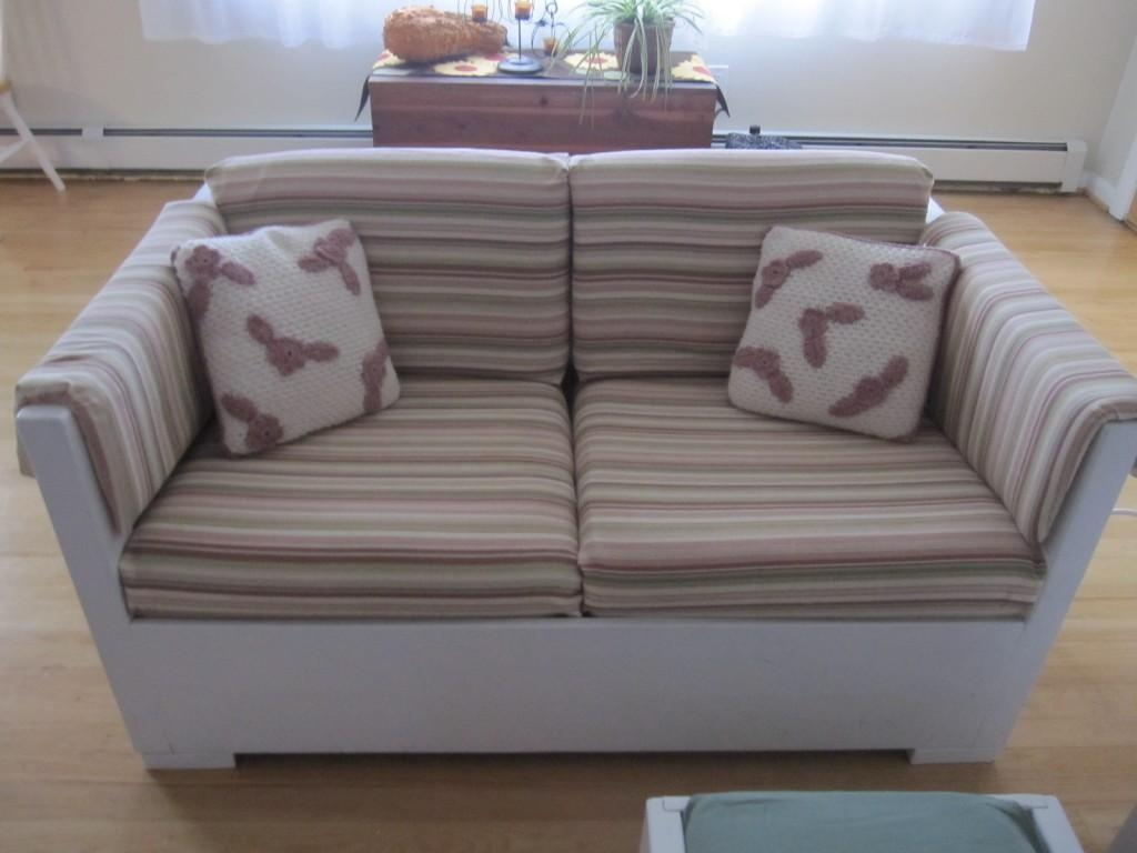 Incredible Sofa Arm Protectors Combine With Dark Sectional Sofa Pertaining To Striped Sofa Slipcovers (Image 8 of 20)