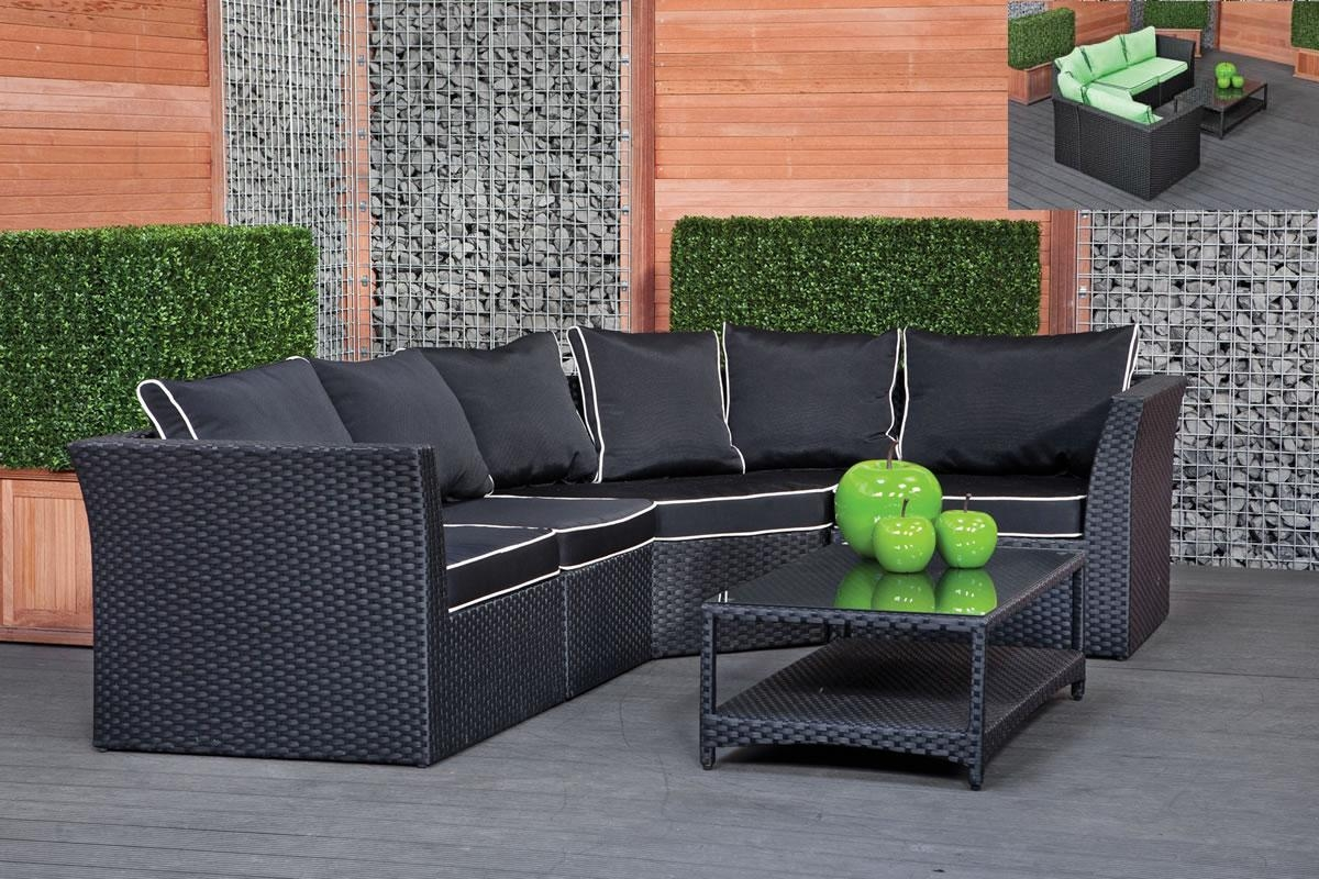 Indoor Outdoor Rattan Loveseat – Rattan Creativity And Headboard In Black Wicker Sofas (View 2 of 20)