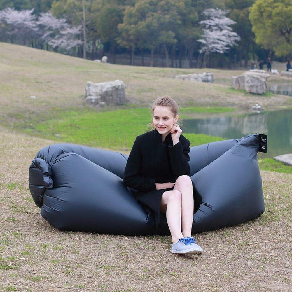Inflatable Sofa Lounger Air Filled Balloon Bed Portable Hangout Within Camping Sofas (Image 13 of 20)