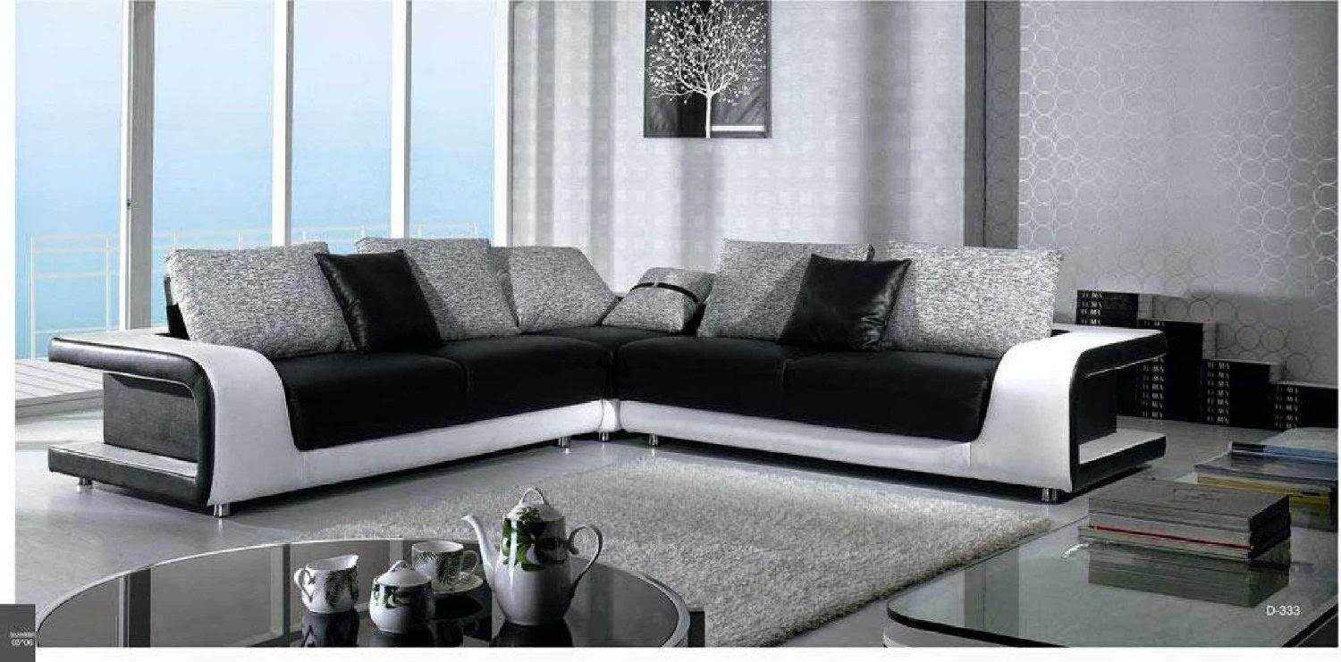 Innovational Ideas Black And White Leather Sofa Set With Regard To Black And White Leather Sofas (Image 15 of 20)