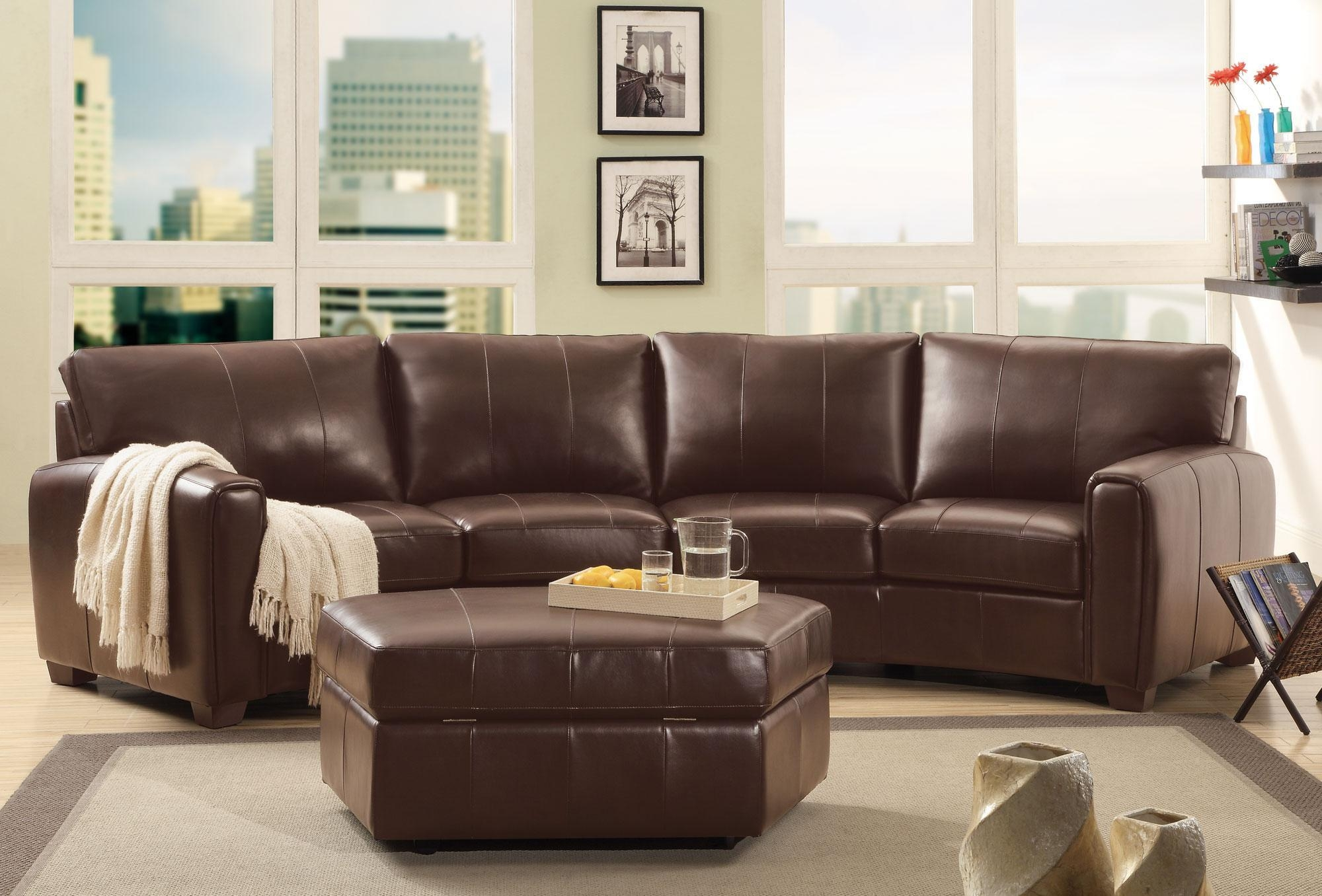 Innovative Curved Leather Sectional Sofa 100 Delta Chocolate Brown Throughout Chocolate Brown Sectional (Image 11 of 15)