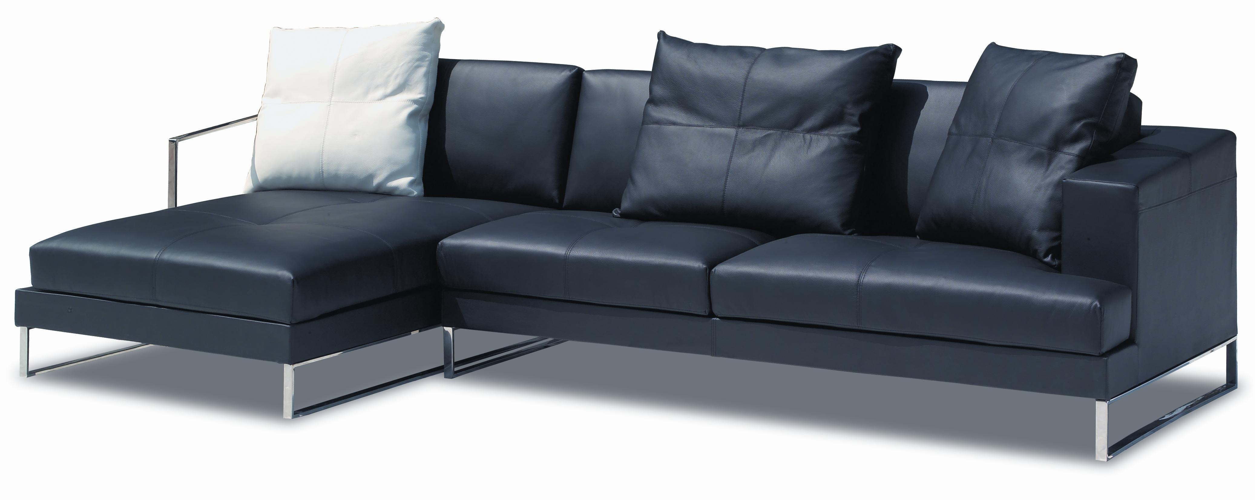 Inspiration Idea Black Leather Sofa With Chaise And Corner Sofas Regarding Black Leather Corner Sofas (View 20 of 20)
