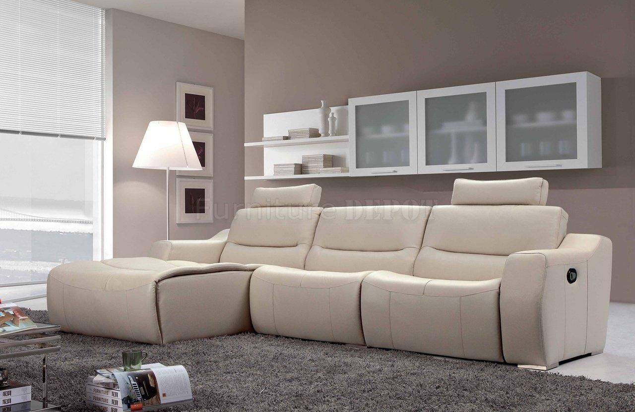 Inspirations White Leather Recliner Sofa And White Recliner Inside Modern Reclining Leather Sofas (View 8 of 20)