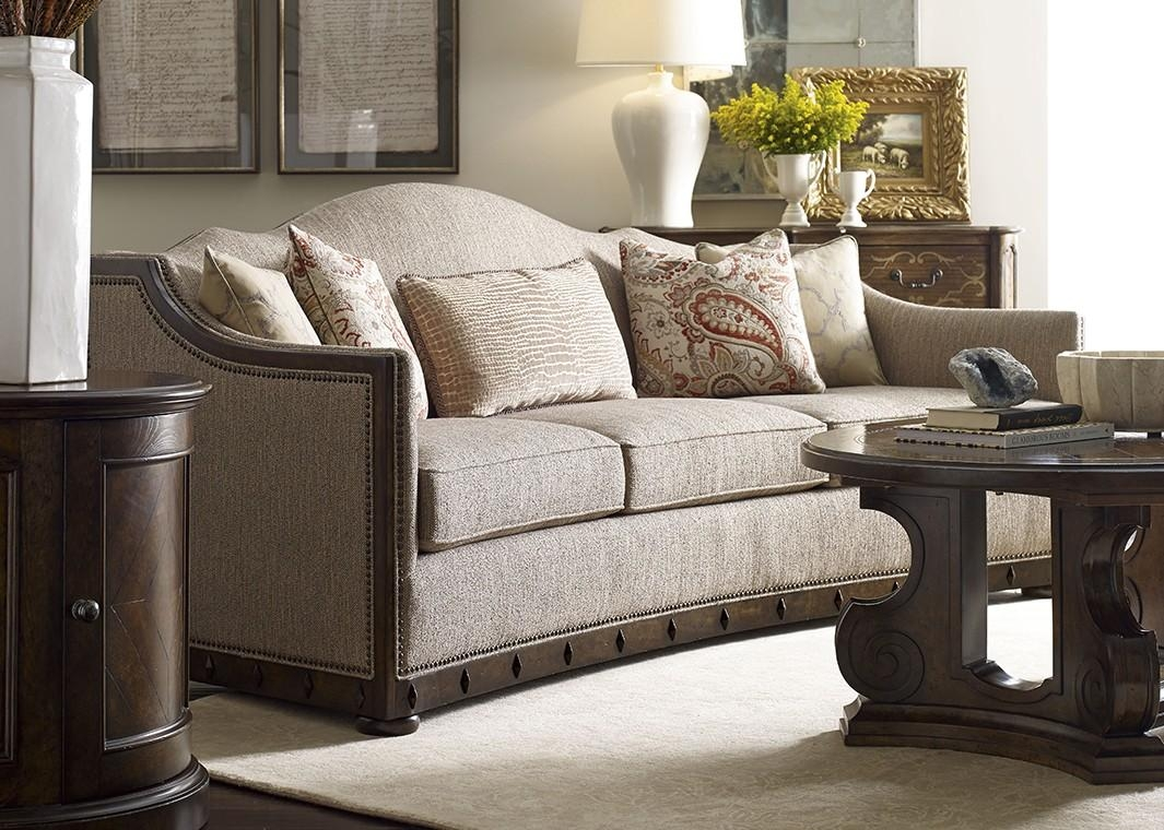 Inspired Traditional Fabric Sofa Canella Finish With Nailhead Trim With Regard To Traditional Fabric Sofas (View 4 of 20)