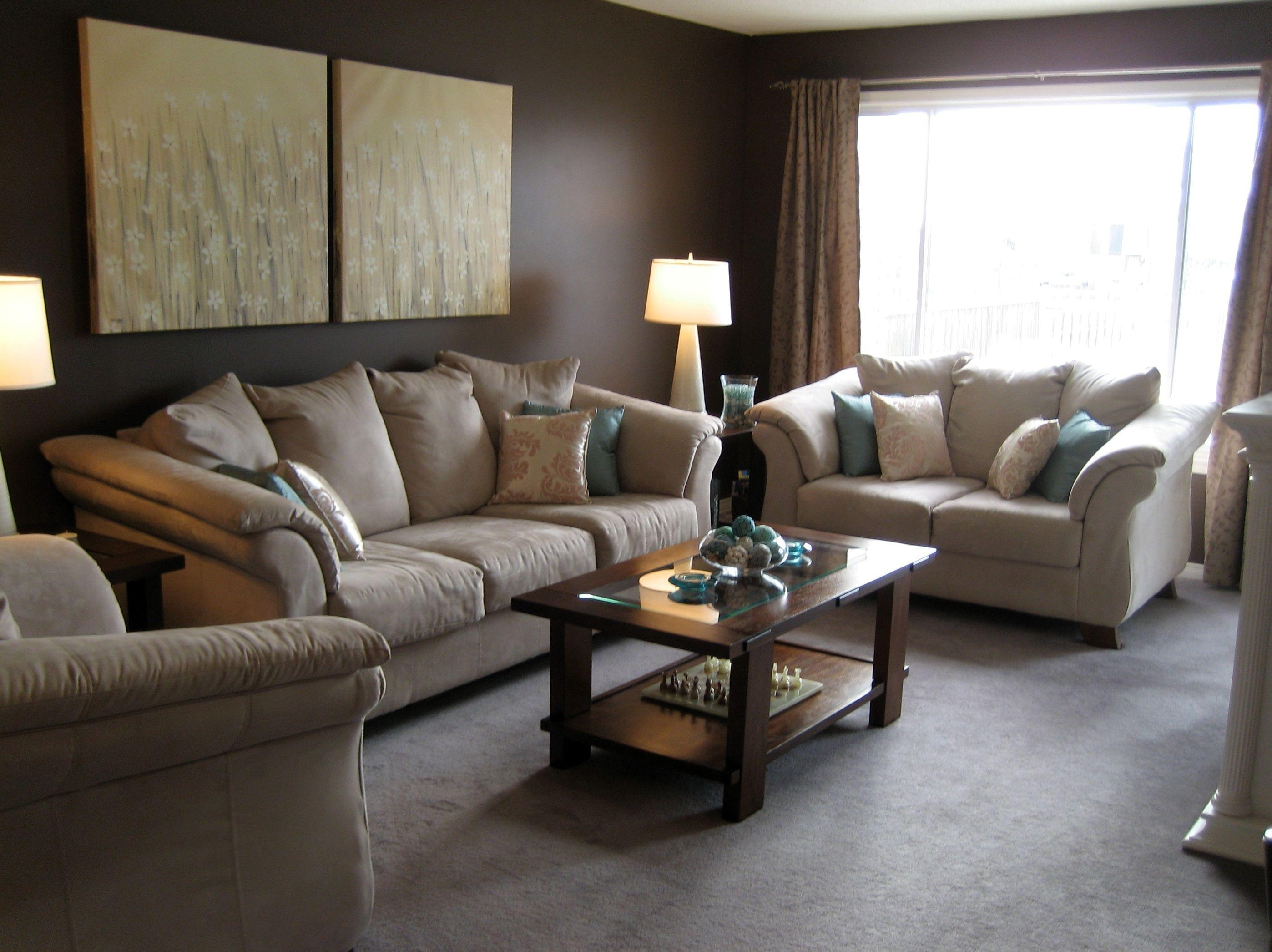Interesting Living Room Brown Ideas - Interior Designs Ideas pertaining to Living Room With Brown Sofas