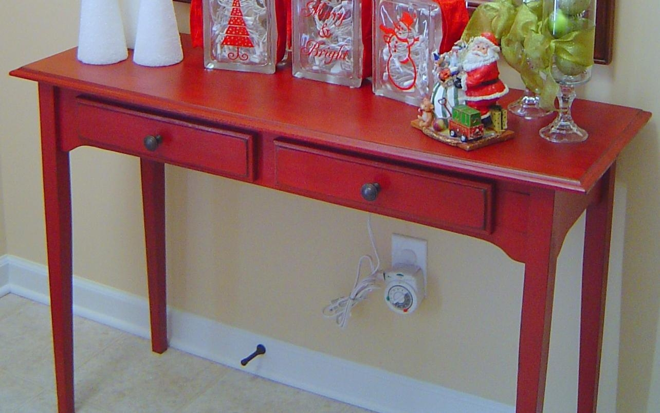 Interesting Red Entry Table Inside Design Ideas Throughout Red Sofa Tables (Image 5 of 20)