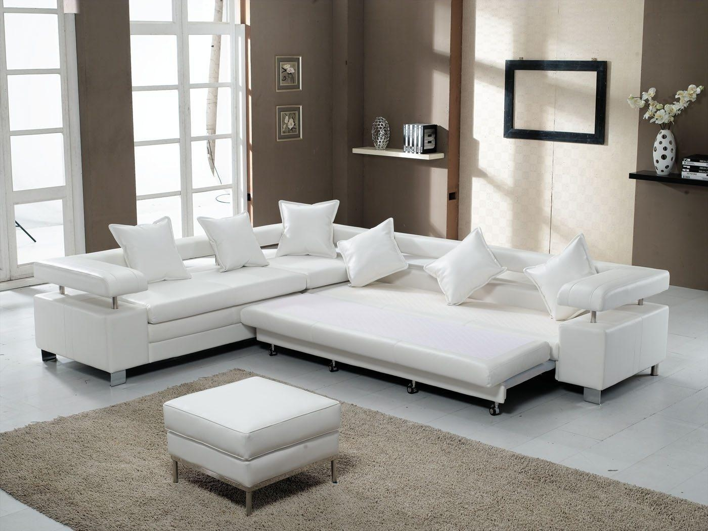 Interior: Best Collection White Sectional Sofa For Excellent Intended For Wide Sectional Sofa (Image 13 of 20)