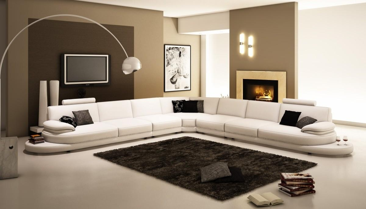 Interior: Best Collection White Sectional Sofa For Excellent With Huge Leather Sectional (Image 9 of 20)