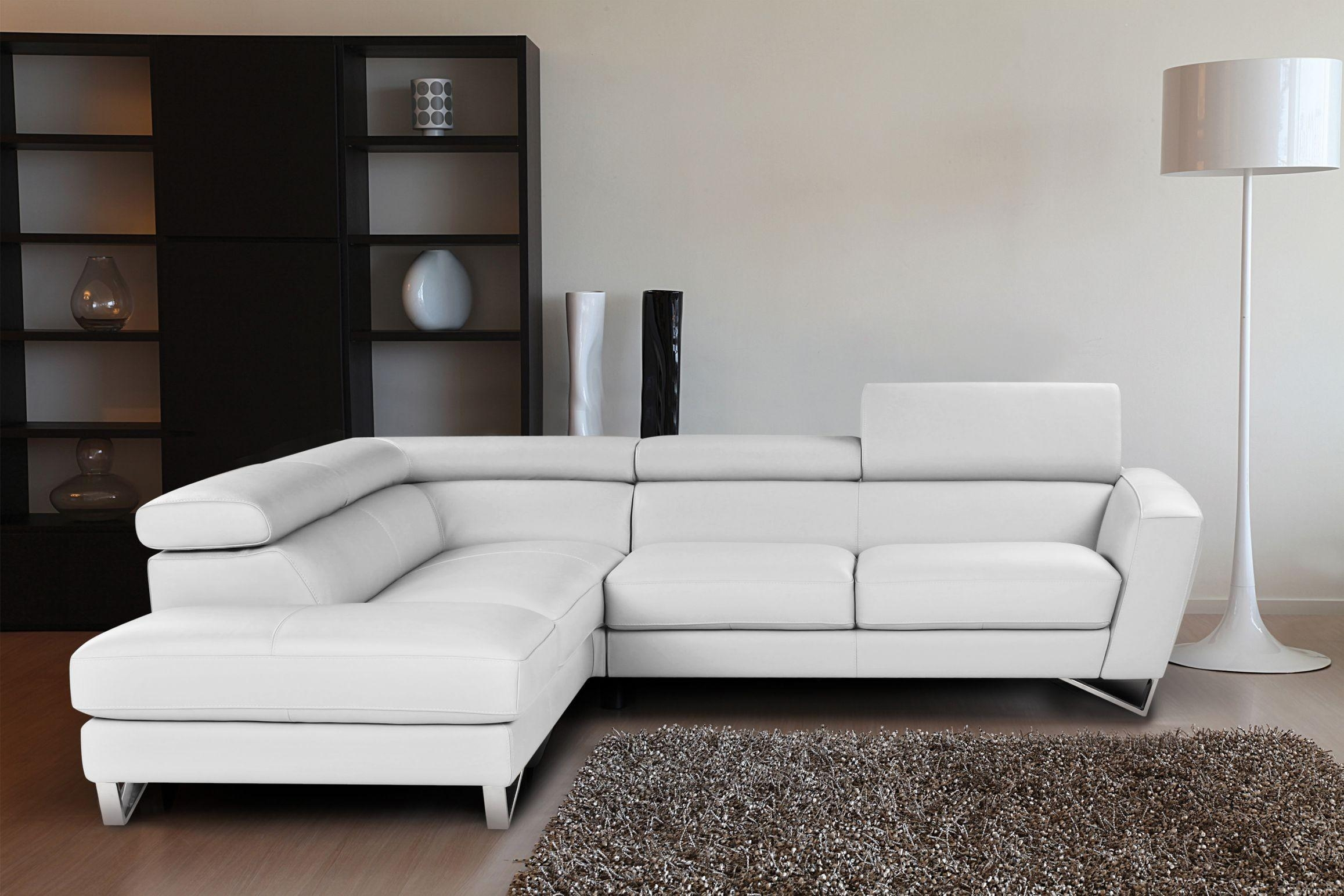 Interior: Best Collection White Sectional Sofa For Excellent With Regard To Large Microfiber Sectional (View 14 of 20)