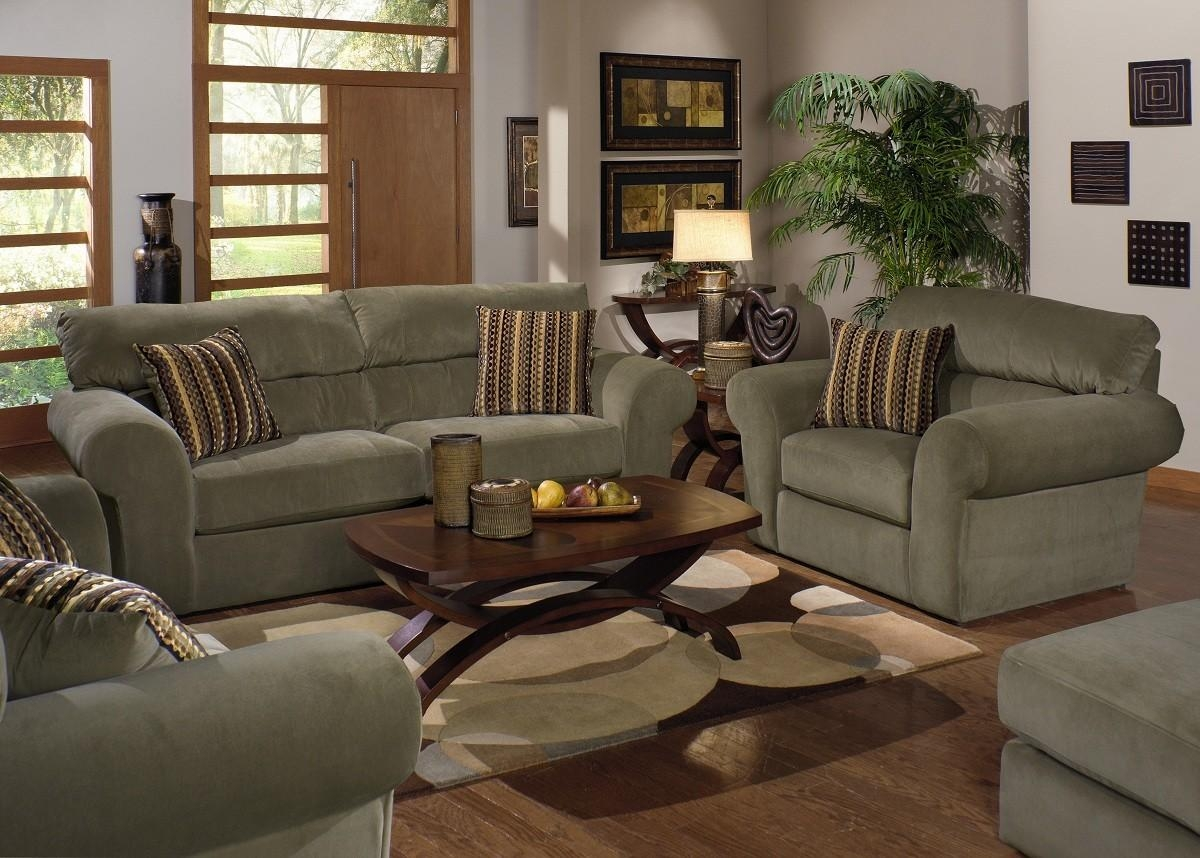 Interior : Fascinating Paint Colors Living Room Brown Furniture With Green Sofa Chairs (Image 15 of 20)