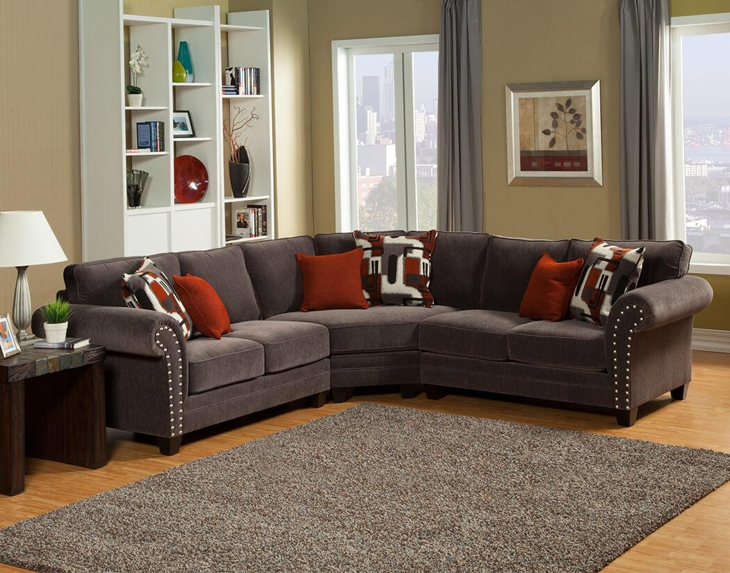 Interior: Gorgeous Lady Charcoal Sectional For Living Room Pertaining To Chenille Sectional Sofas With Chaise (Image 15 of 20)