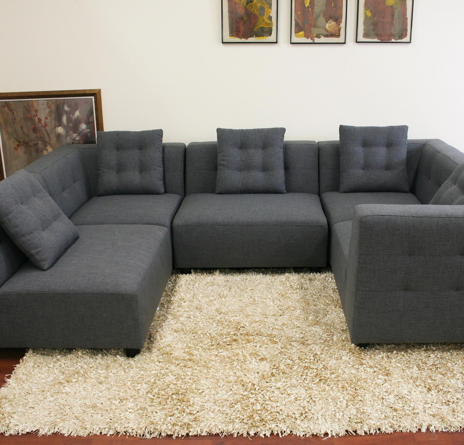 Interior: Gorgeous Lady Charcoal Sectional For Living Room Throughout Charcoal Gray Sectional Sofas (Image 9 of 20)