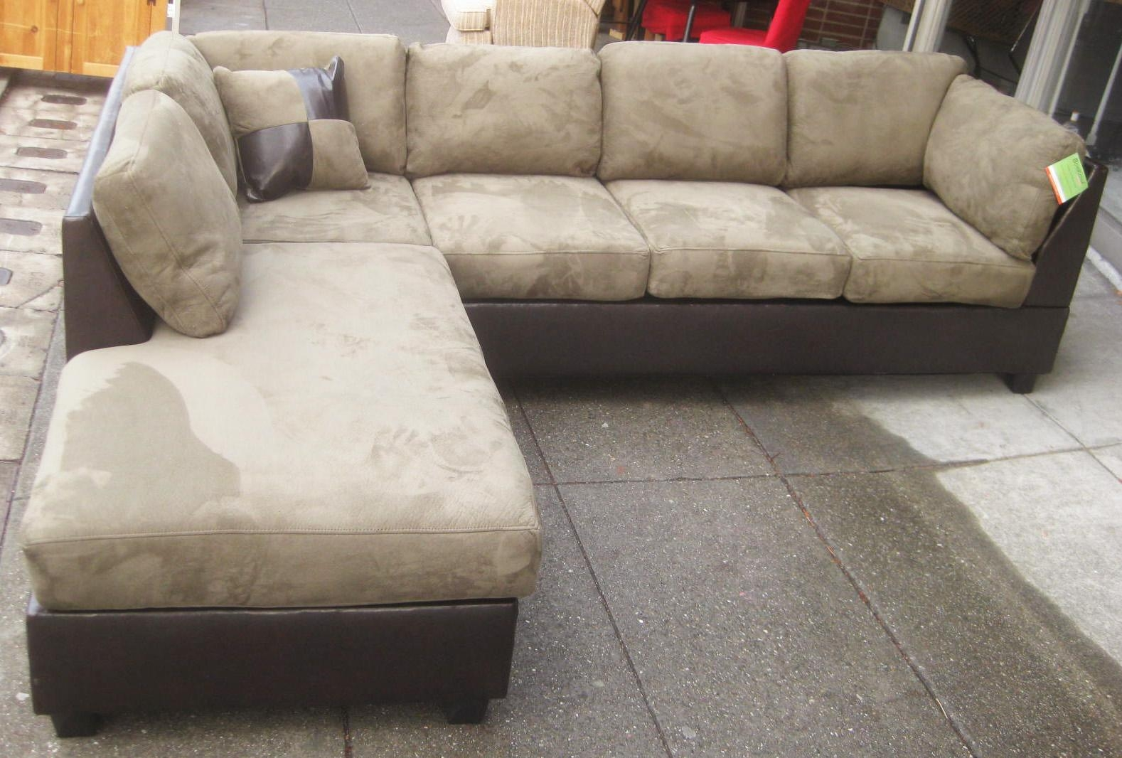 Featured Image of Leather And Suede Sectional Sofa