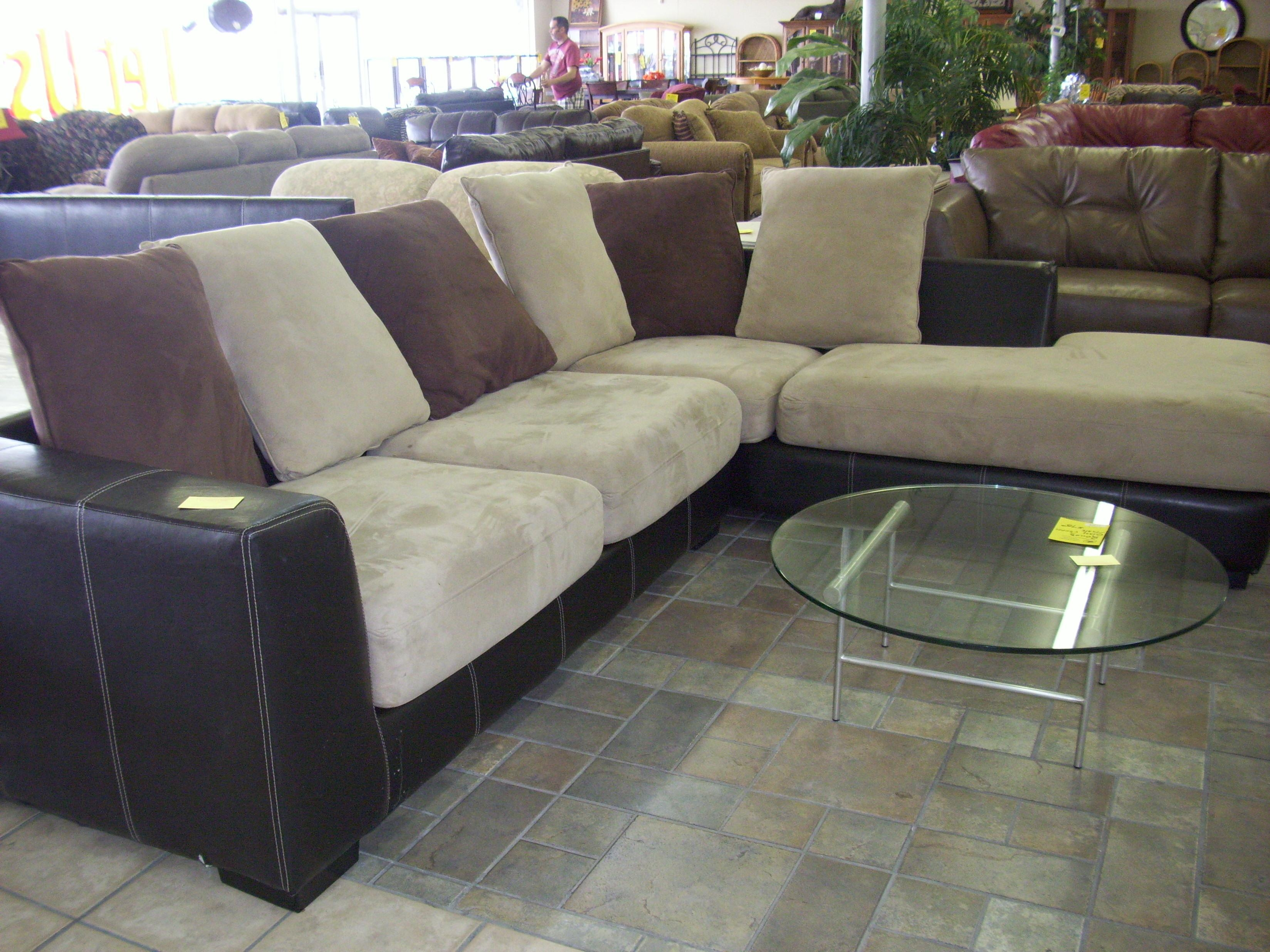 Interior: Impressive Microsuede Sectional Collections Sets For With Regard To Microsuede Sectional Sofas (View 5 of 20)